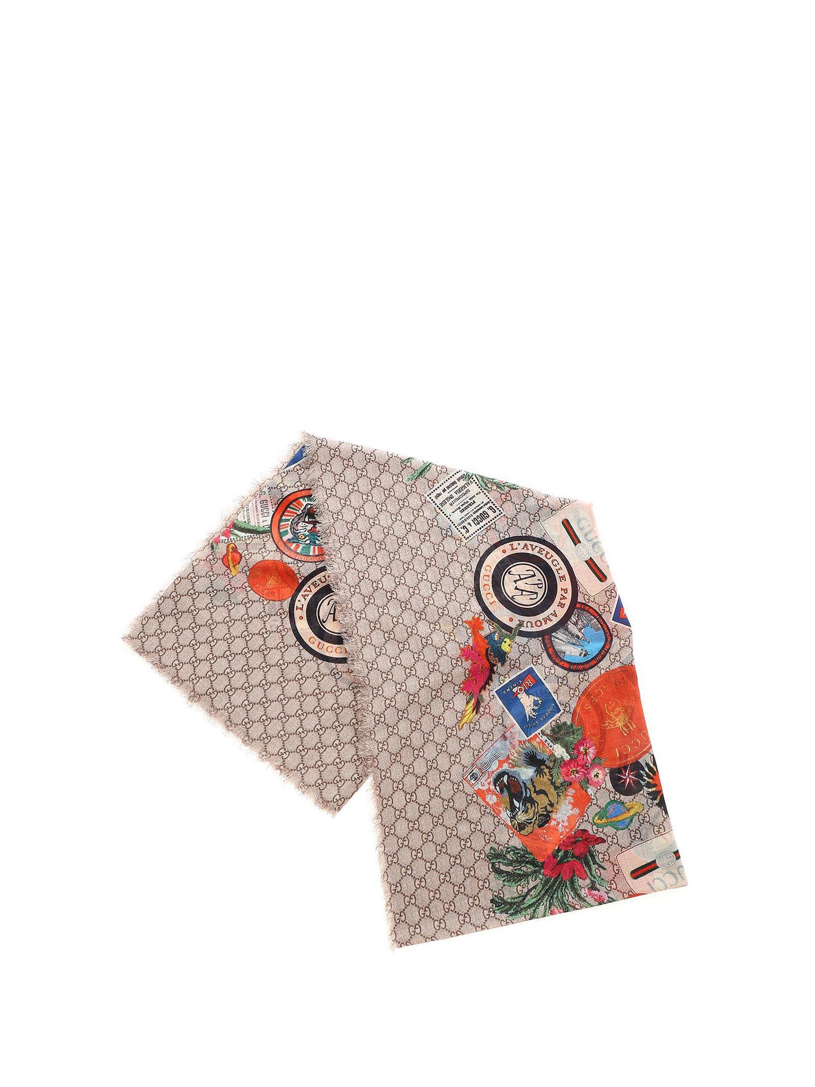 Gucci Gucci Printed Scarf
