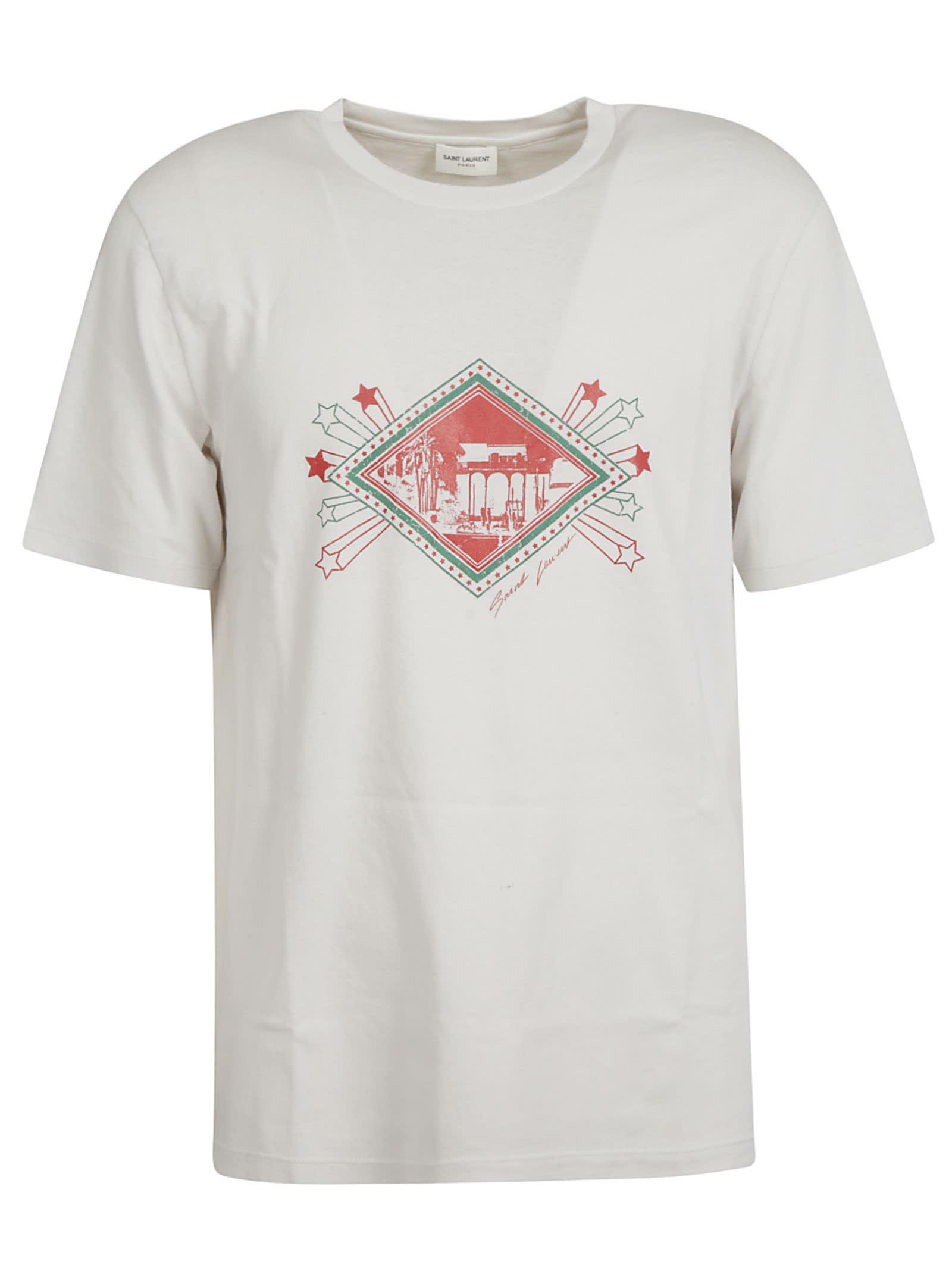 Saint Laurent Front Stars Print T-shirt