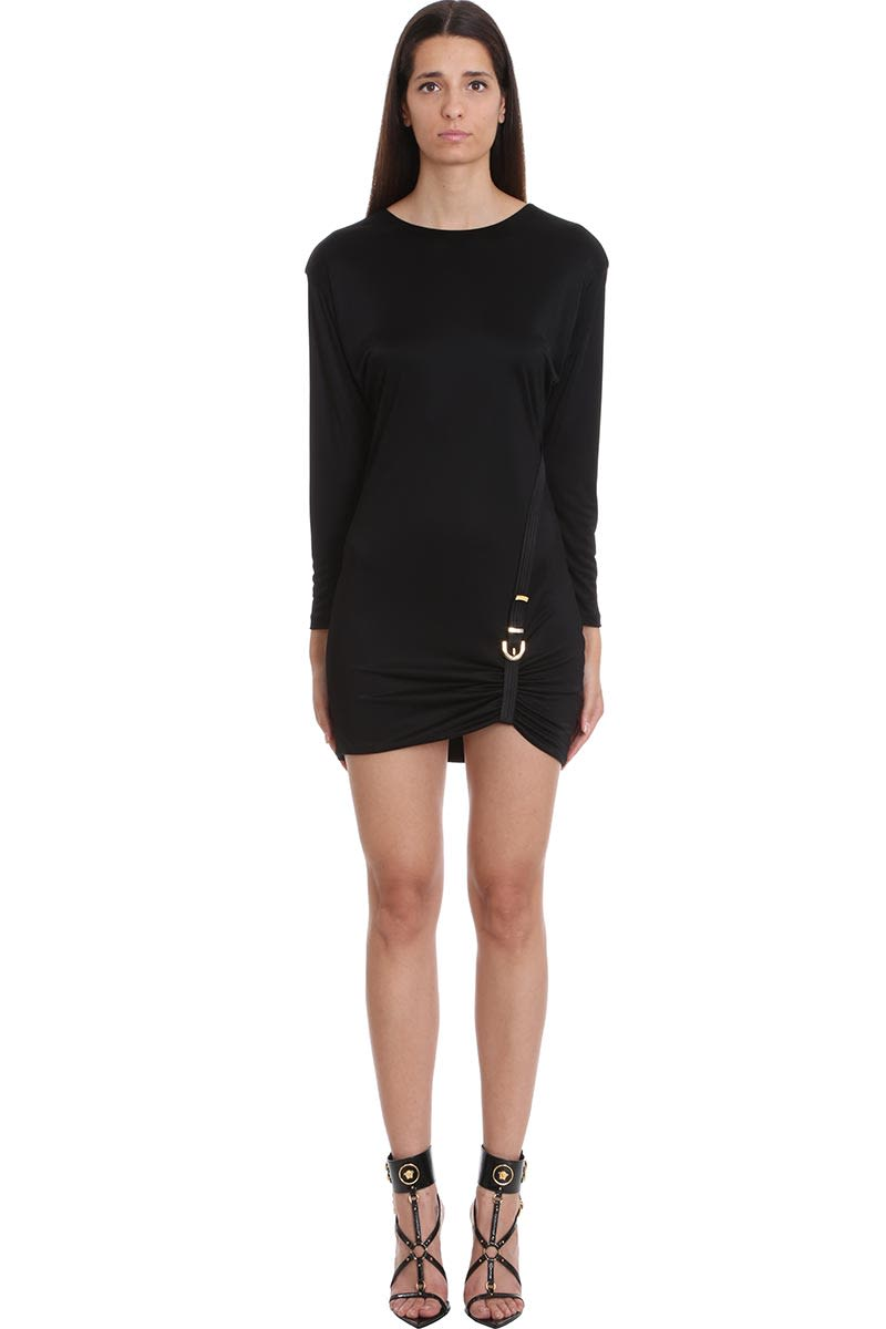 Buy Versace Dress In Black Silk online, shop Versace with free shipping