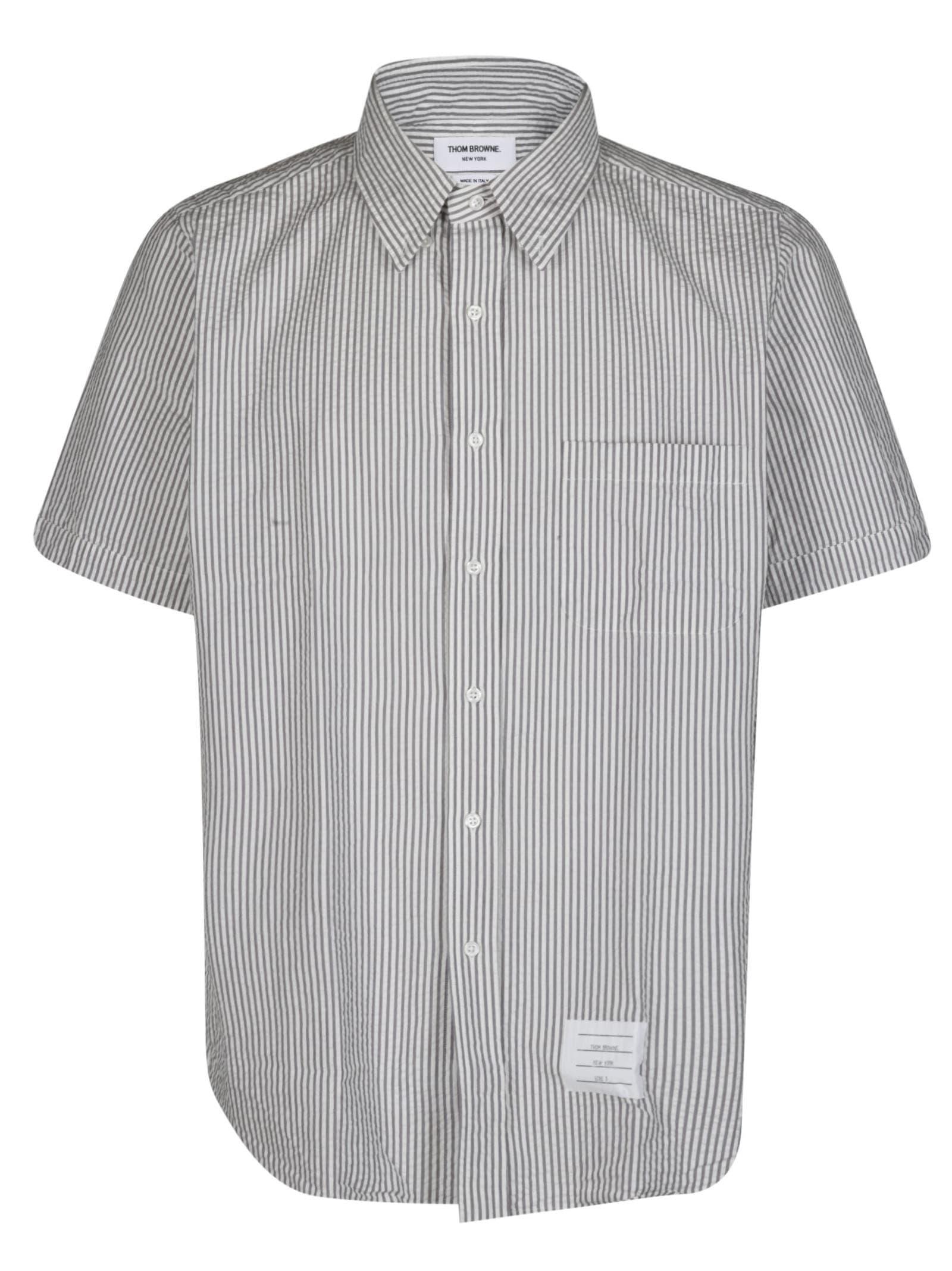 Thom Browne Grey Cotton Shirt