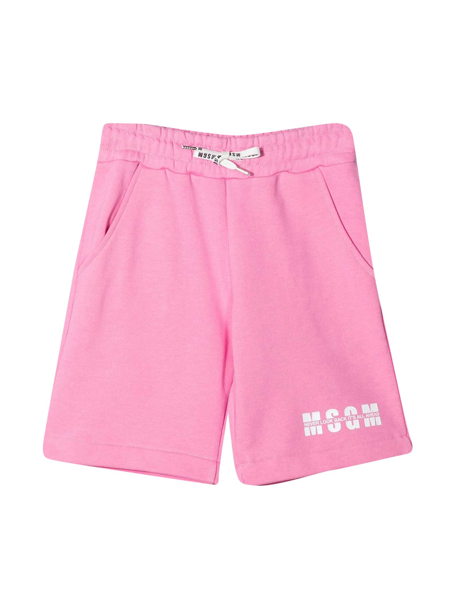 Msgm Cottons TEEN PINK SHORTS