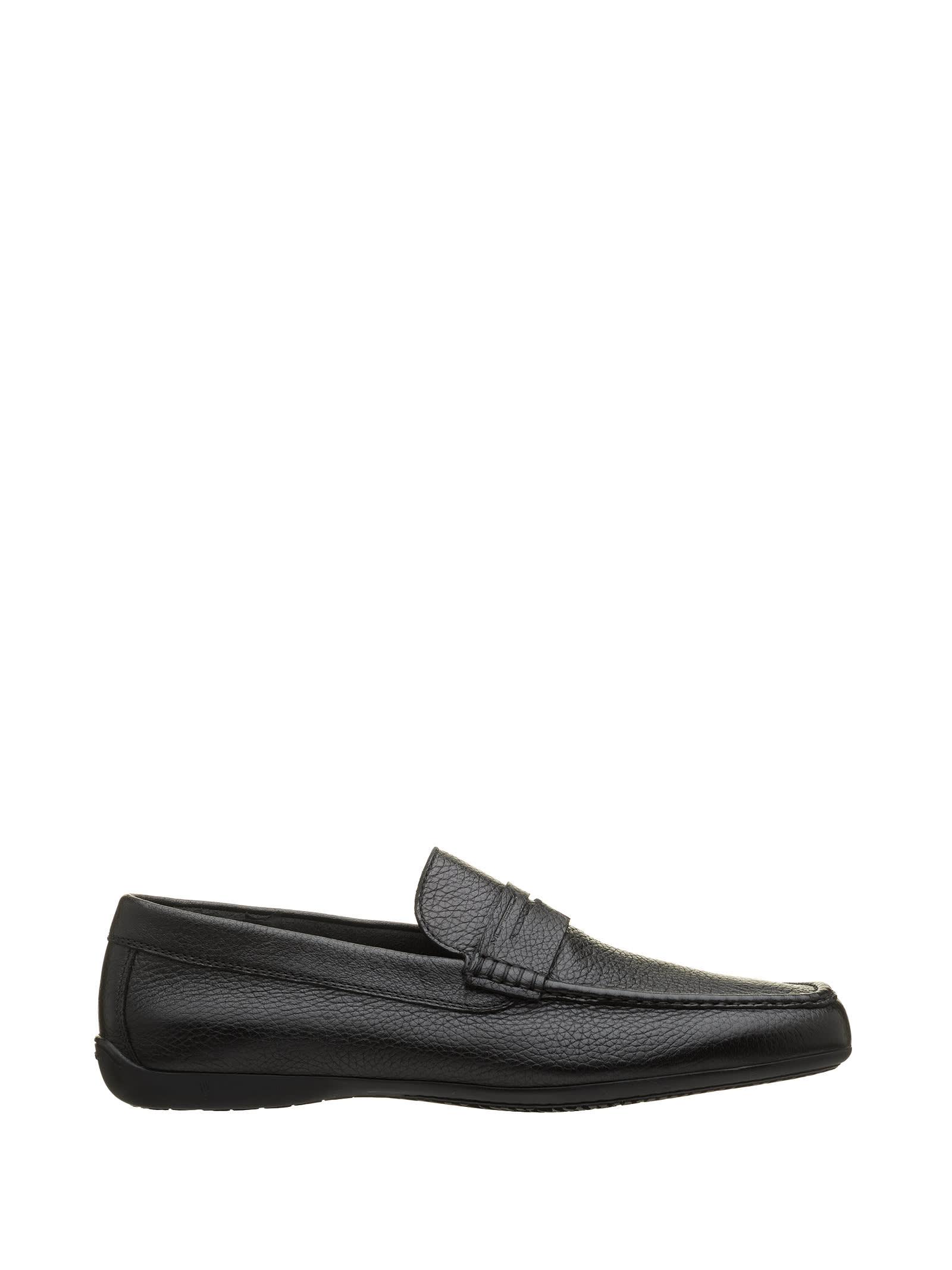 Moreschi Moreschi Black Leather Loafer