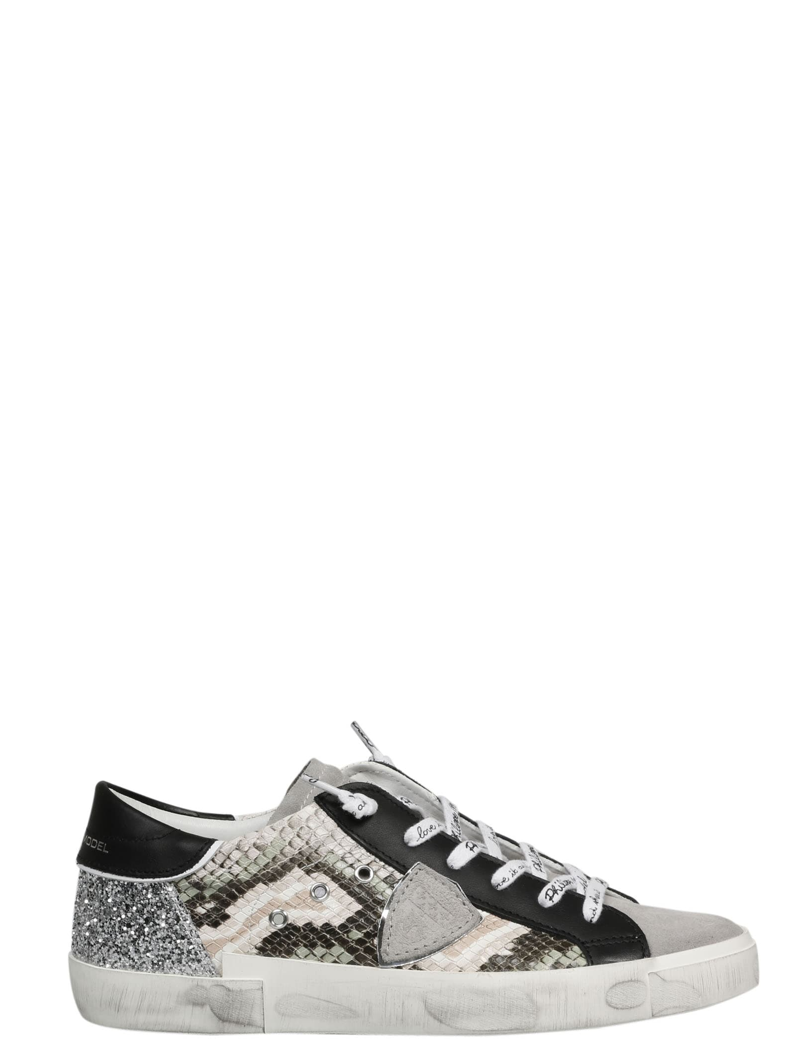 Philippe Model PYTHON LEATHER SNEAKERS