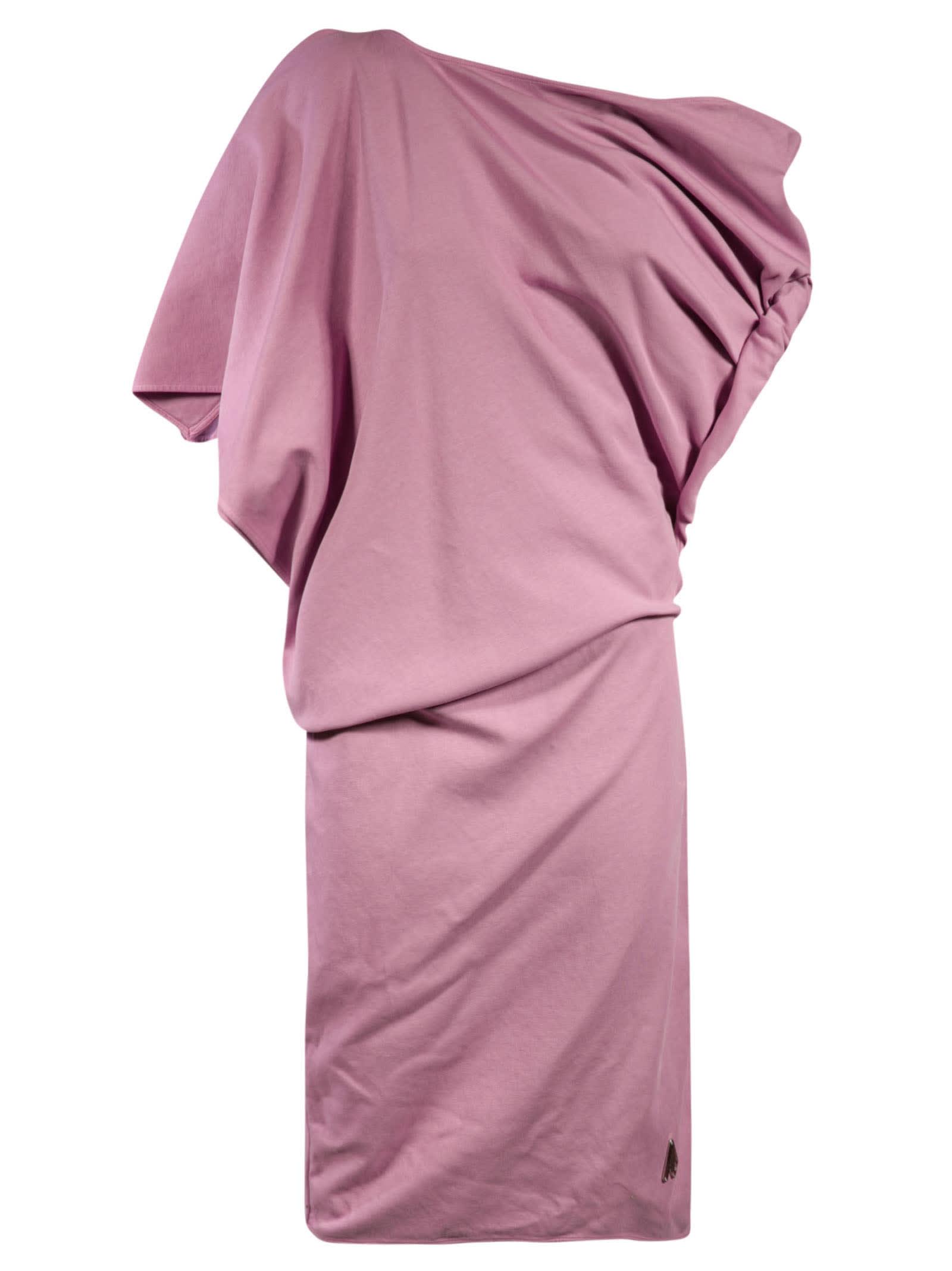 Attico Cottons MINI ONE-SHOULDER DRESS