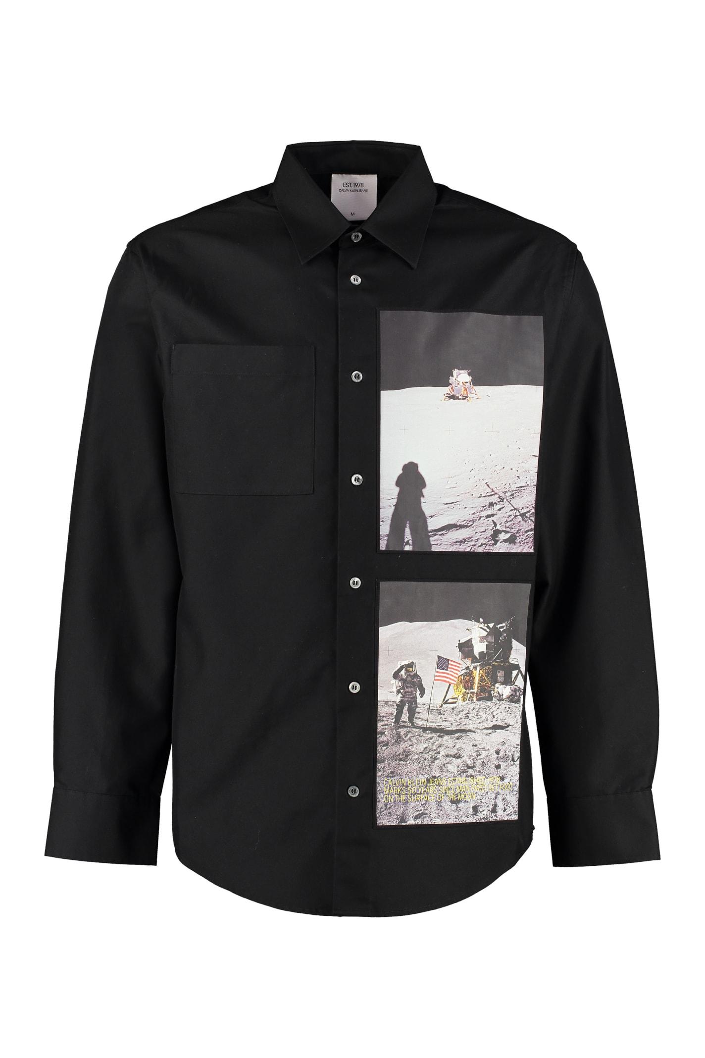 Calvin Klein Jeans Cotton Blend Long Sleeves Shirt