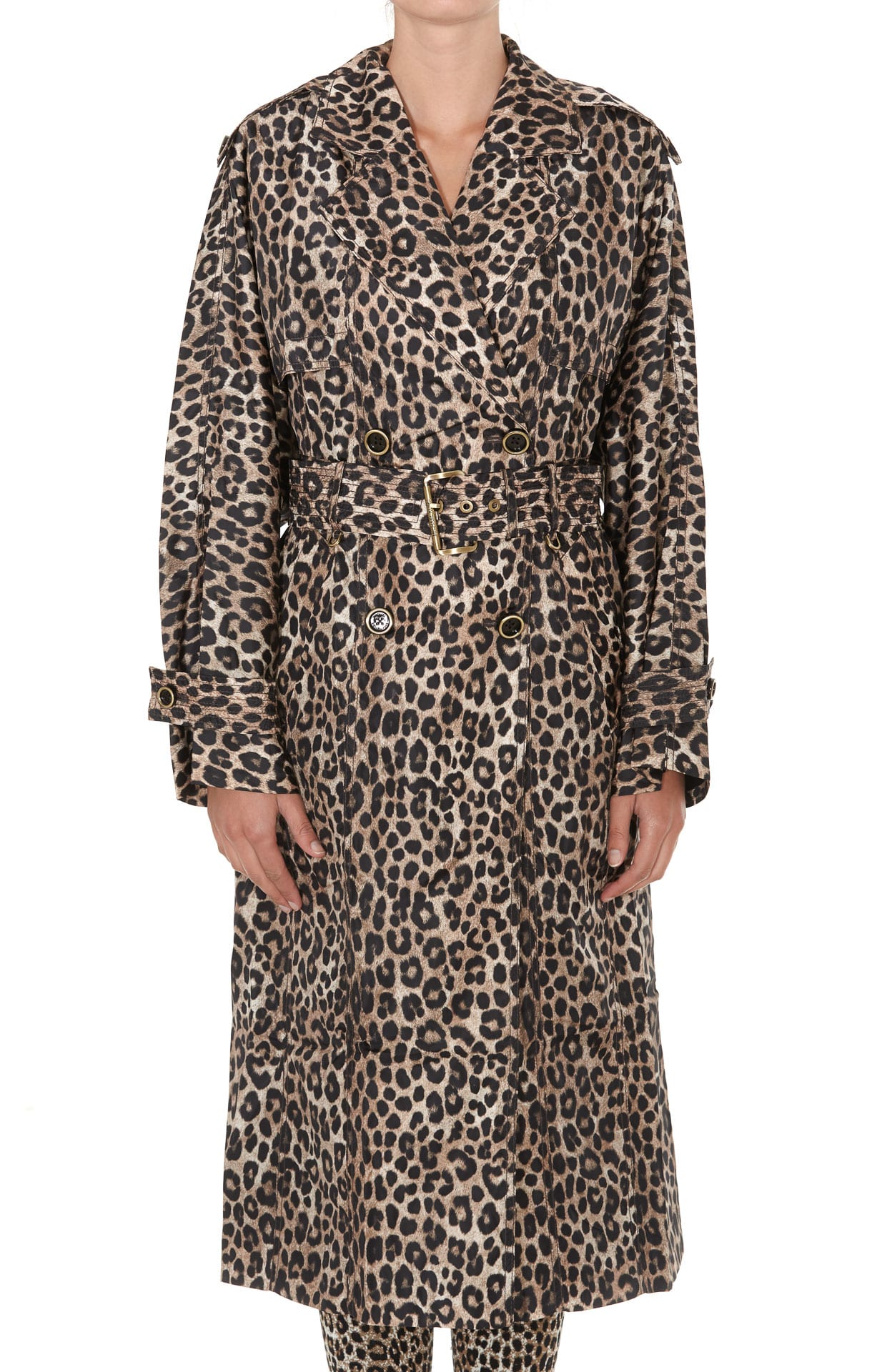 Michael Michael Kors Animalier Cheetah Print Trench Coat