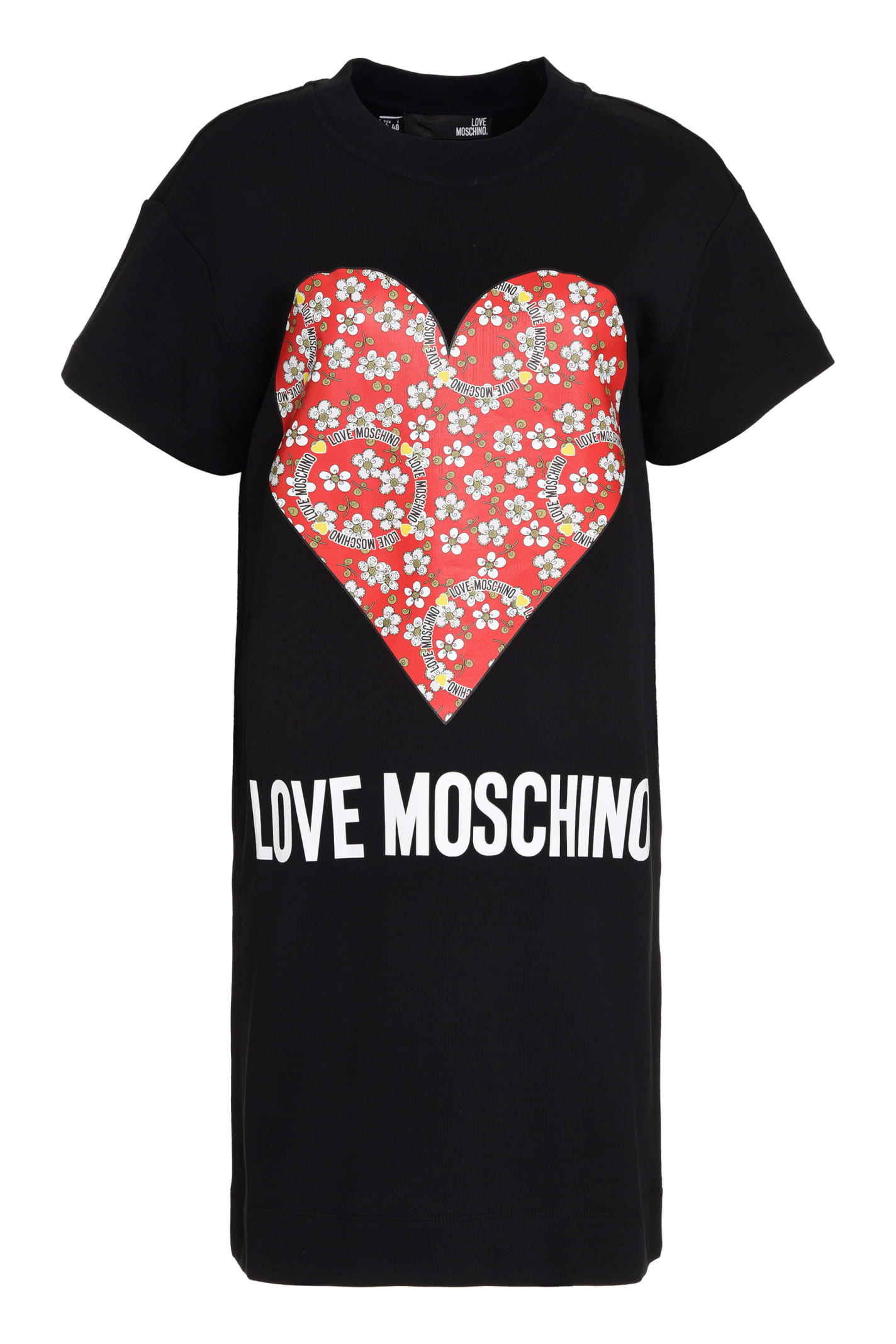 Love Moschino Printed Cotton Sweatdress