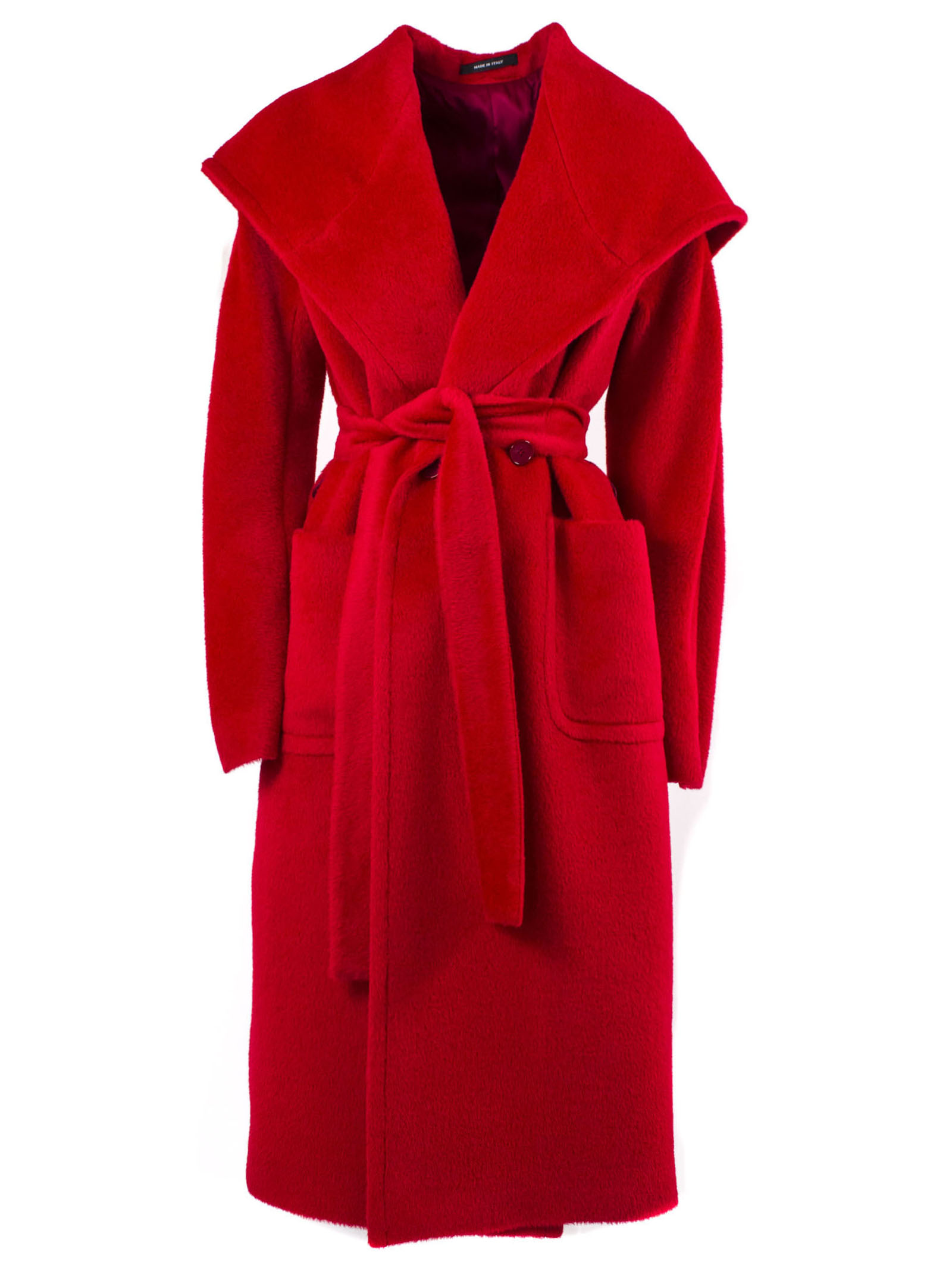 Tagliatore Red Virgin Wool Daisy Coat