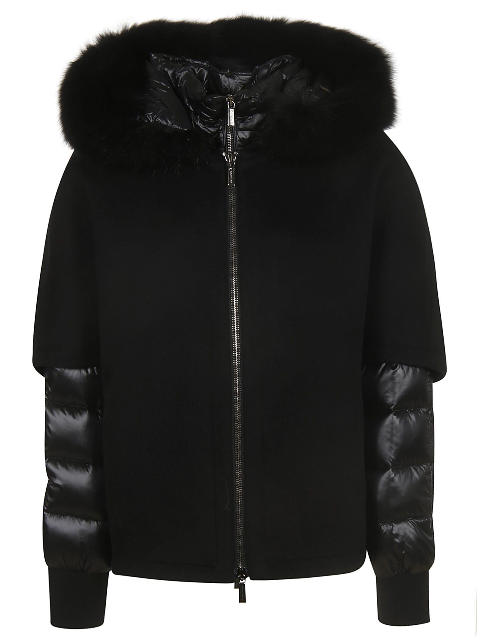 Moorer Pegaso-cwr Padded Sleeve Zipped Jacket