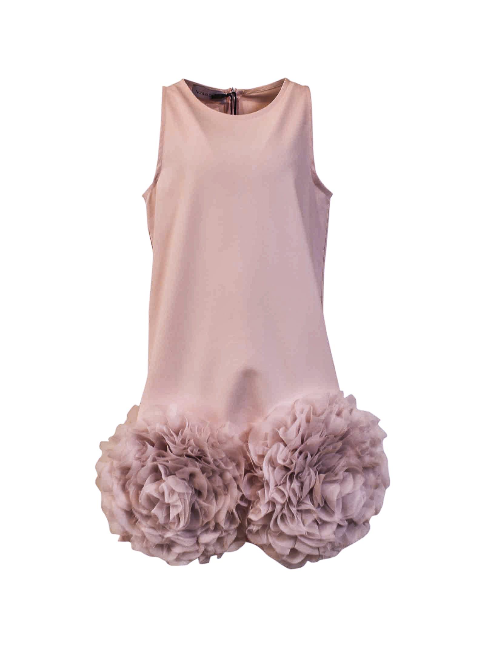 Buy Nunzia Corinna Heavy Pink Bell-shaped Crepe Teen Dress online, shop Nunzia Corinna with free shipping