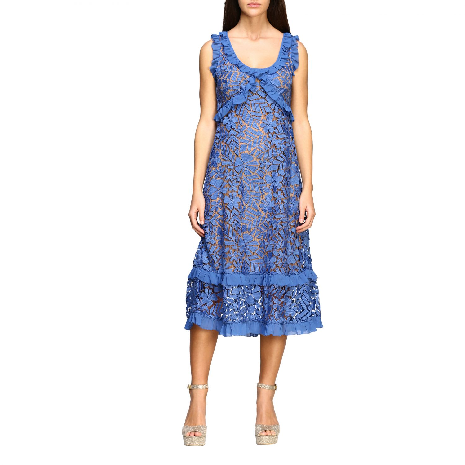 Buy Michael Michael Kors Dress Michael Michael Kors Floral Lace Dress online, shop MICHAEL Michael Kors with free shipping