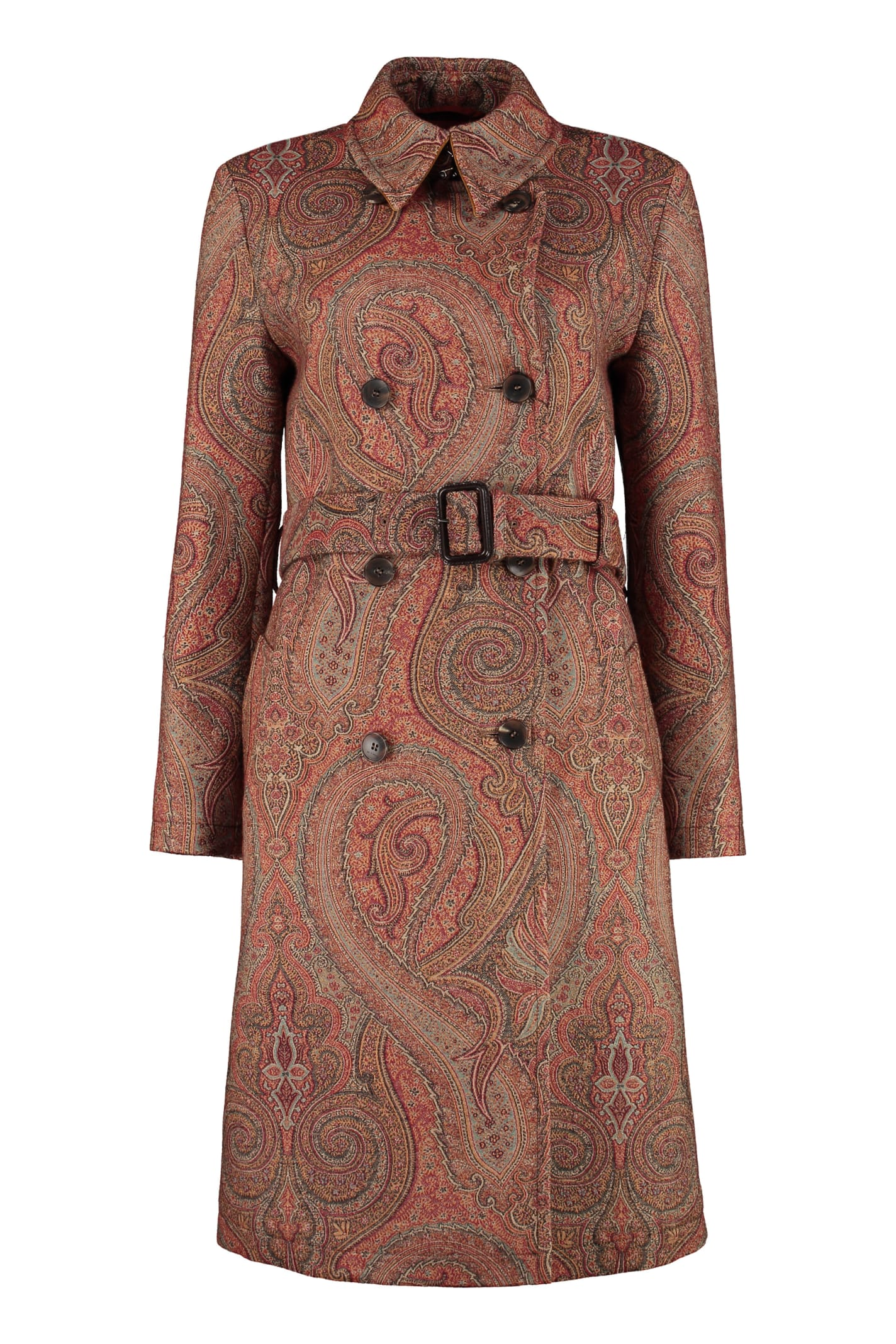 Etro Paisley Double-breasted Coat