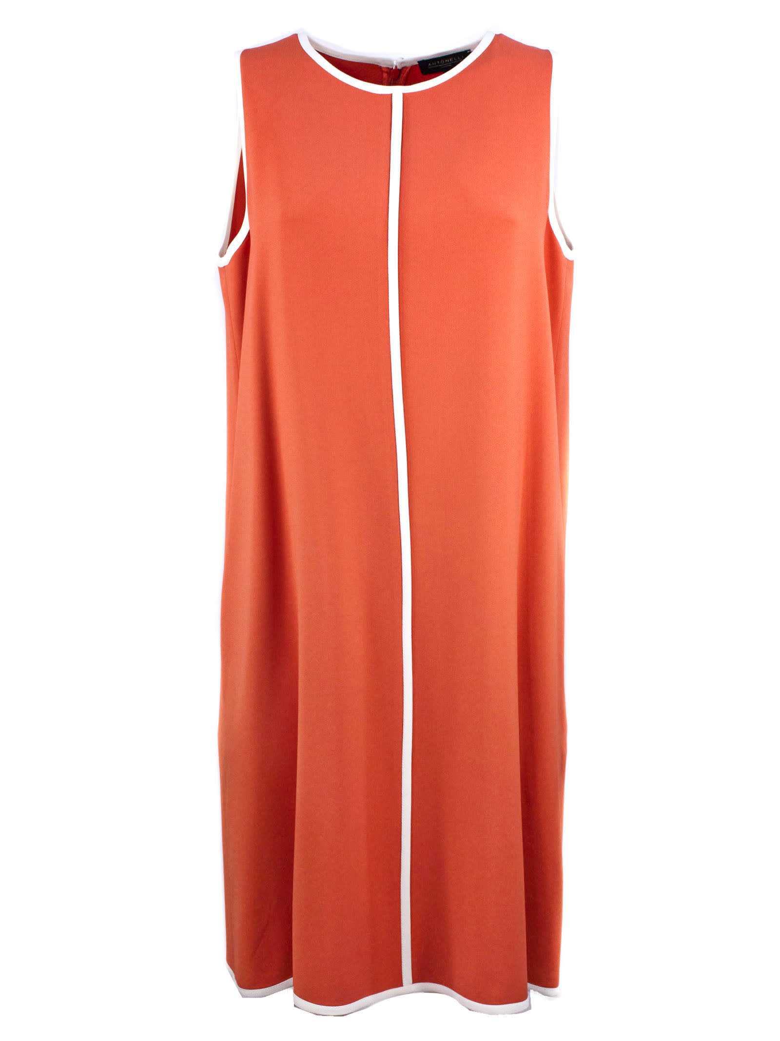 Buy Antonelli Dress In Soft Orange-tone Fabric online, shop Antonelli with free shipping