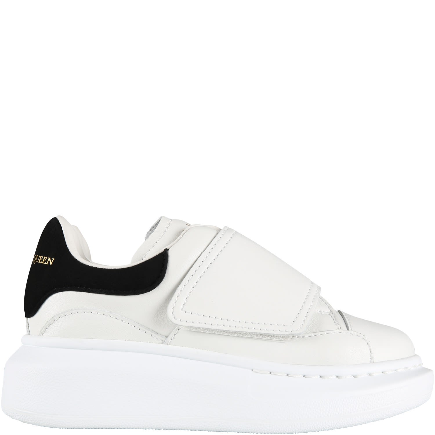 Alexander McQueen White Sneakers For Kids With Logo