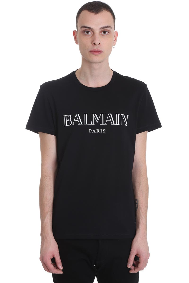 Balmain T-shirt In Black Cotton