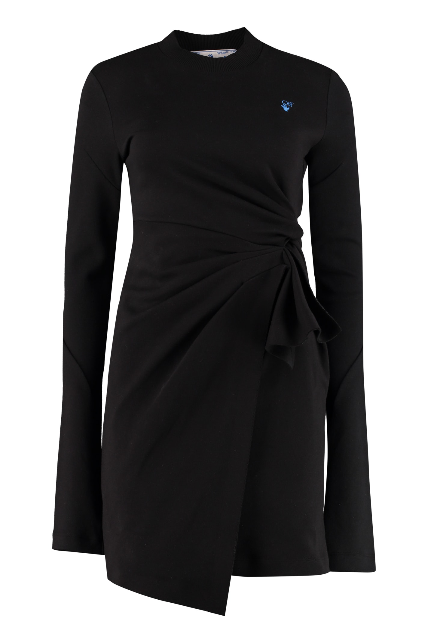 Buy Off-White Draped Sheath Dress online, shop Off-White with free shipping