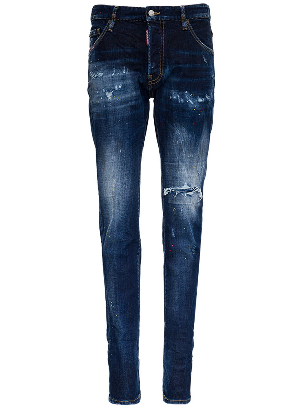 Dsquared2 Cool Guy Jeans In Washed Denim In Blu
