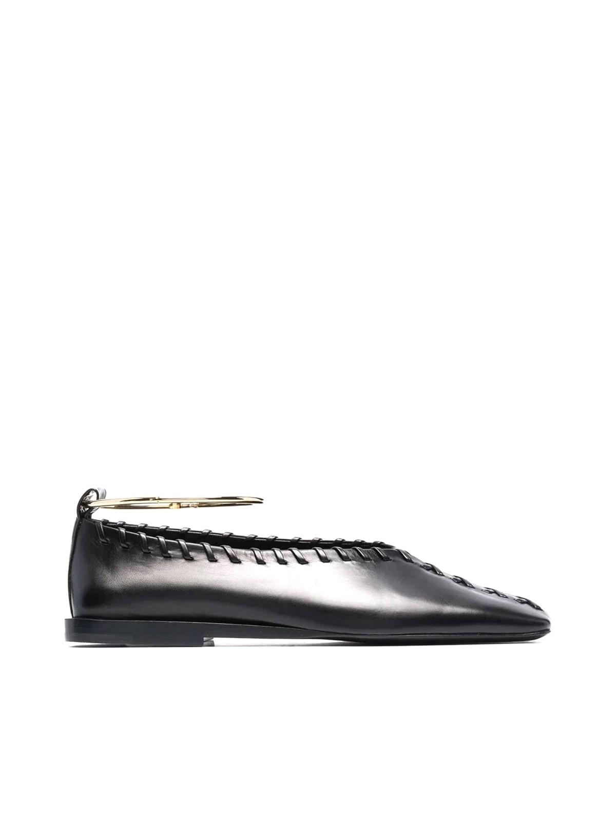 Buy Jil Sander Ballerina - Tripon 999 Nero online, shop Jil Sander shoes with free shipping