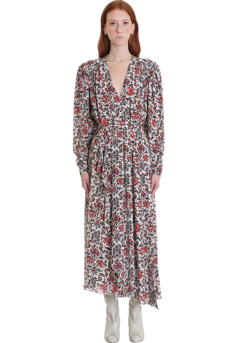 Buy Isabel Marant Blaine Dress In Red Silk online, shop Isabel Marant with free shipping