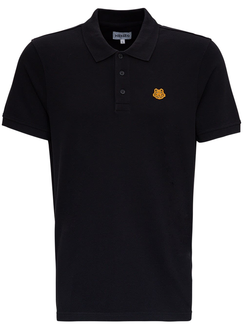 Kenzo Jersey Polo With Logo Patch