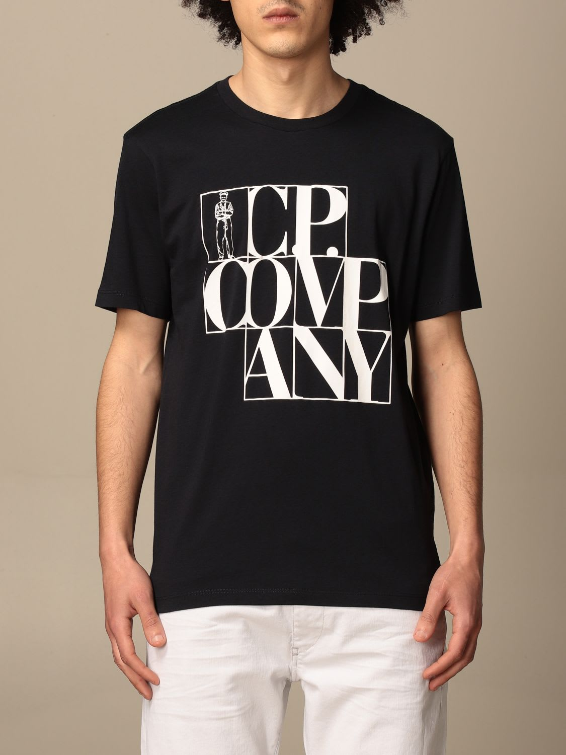 C.p. Company C.P. COMPANY T-SHIRT C.P. T-SHIRT COMPANY IN COTTON WITH BIG LOGO