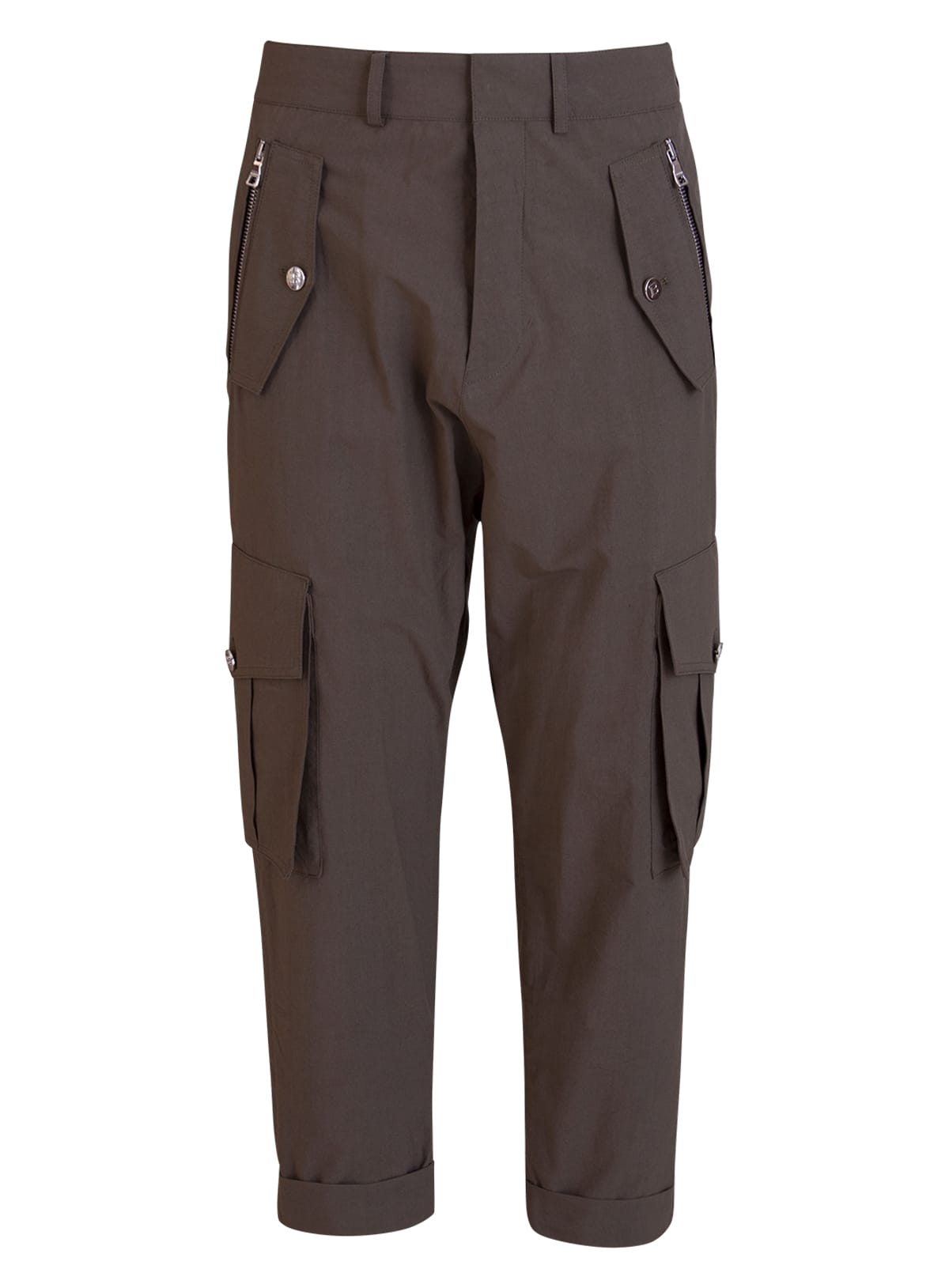 Balmain Cottons CROPPED CARGO TROUSERS