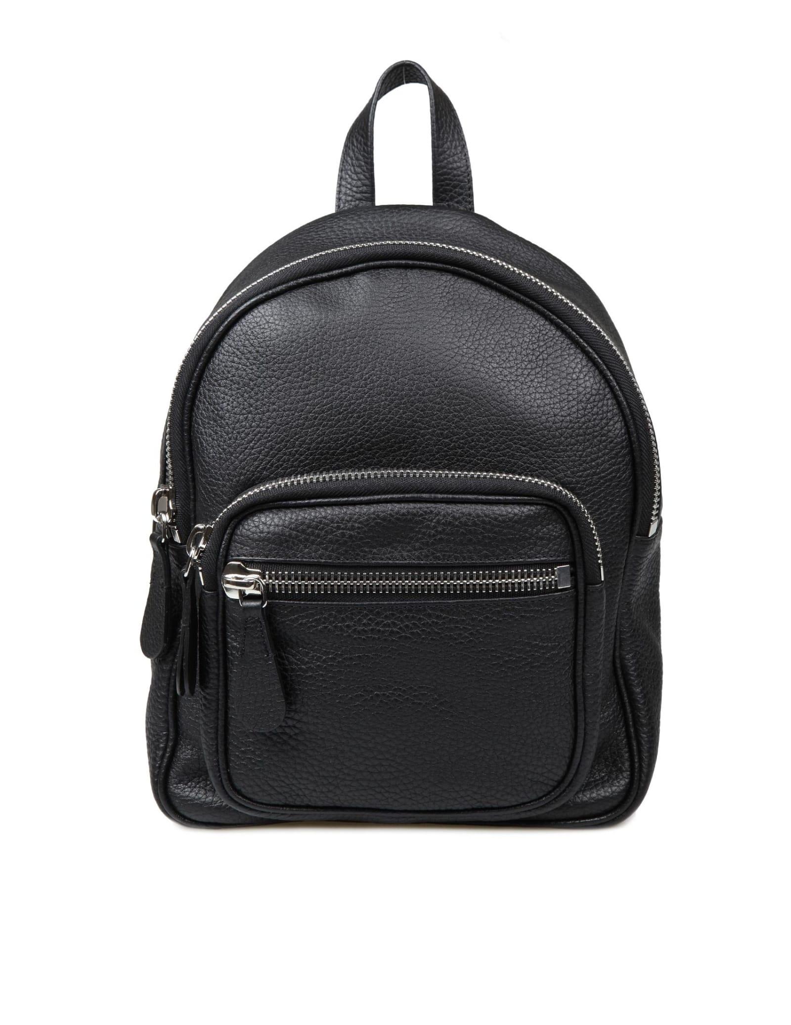 Maison Margiela Mini Backpack In Black Leather