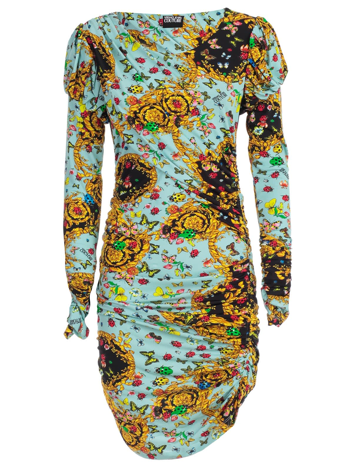 Versace Jeans Couture Dress L & s W & drape Fantasy