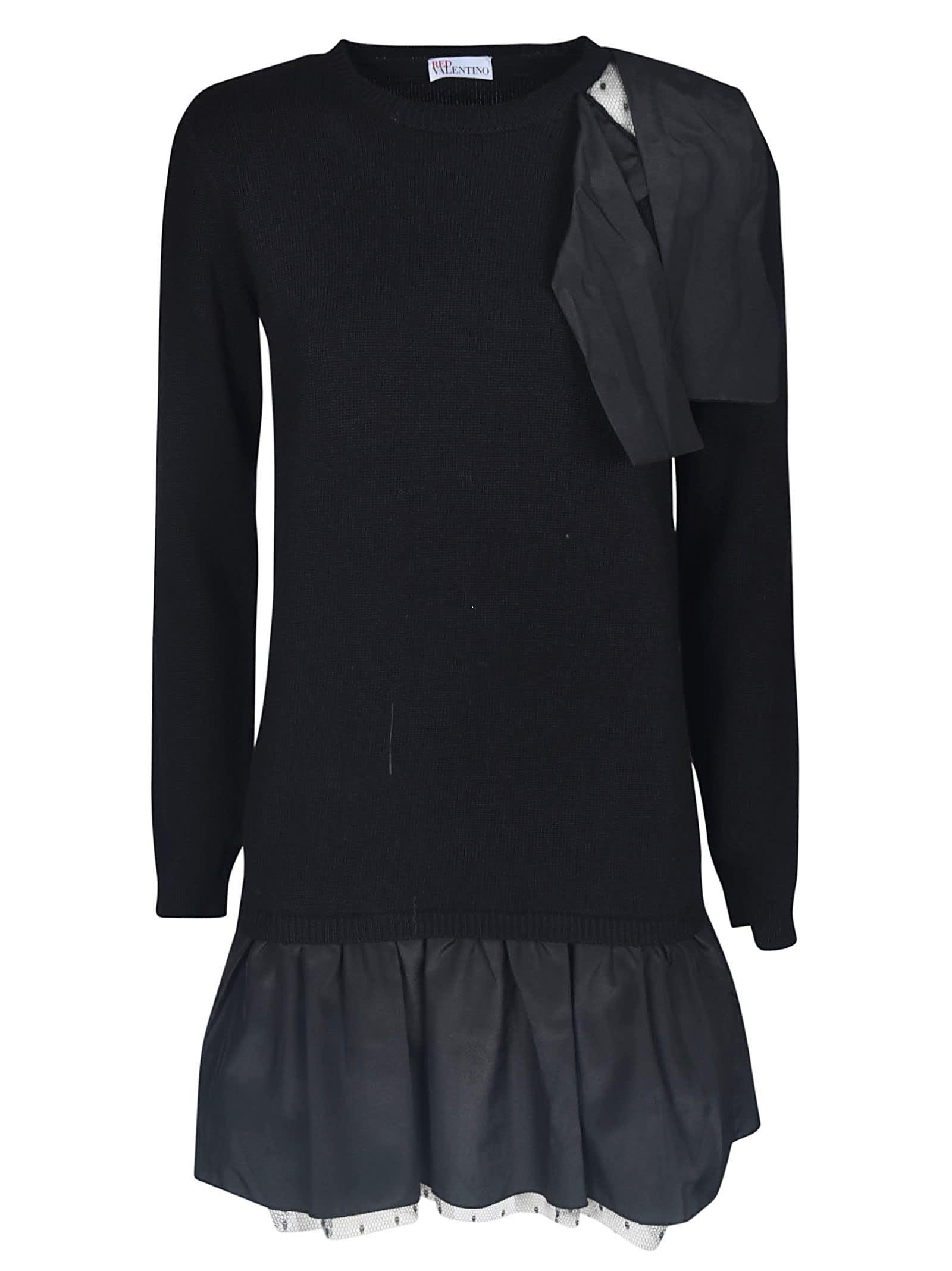 Valentino Ribbed Short Dress