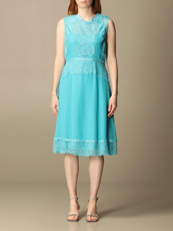 Buy Alberta Ferretti Dress Alberta Ferretti Dress In Silk Chiffon And Lace online, shop Alberta Ferretti with free shipping