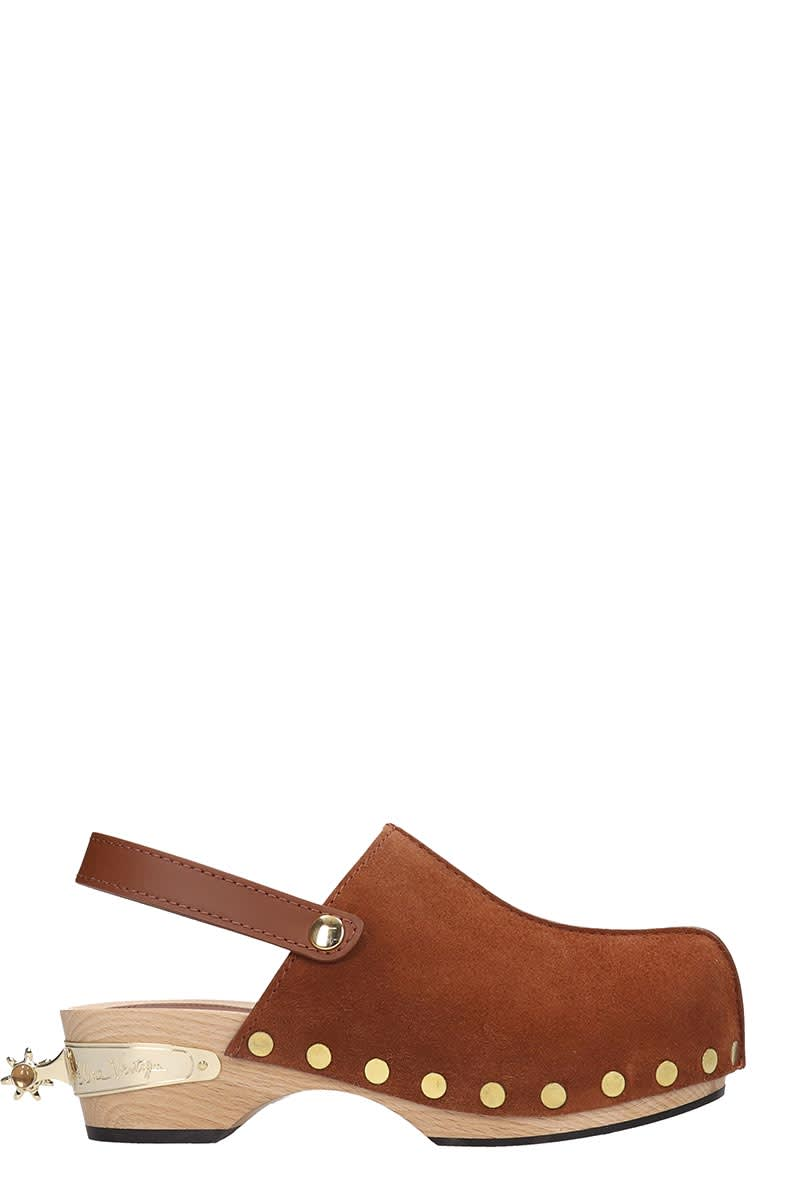 Elsa Nilsson Flats In Leather Color Suede