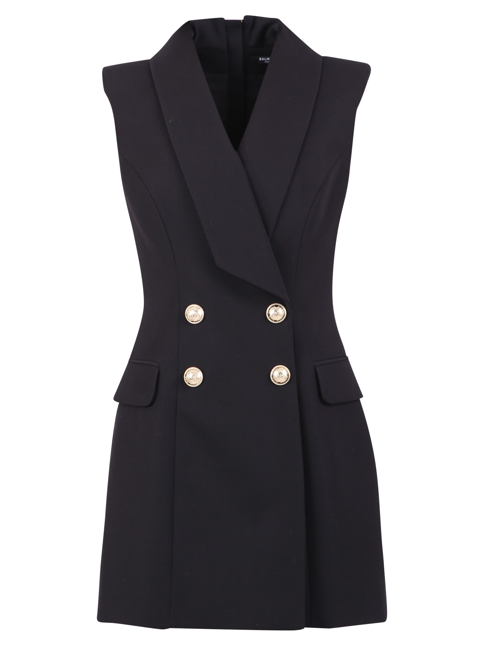 Buy Balmain Sleeveless Dress online, shop Balmain with free shipping