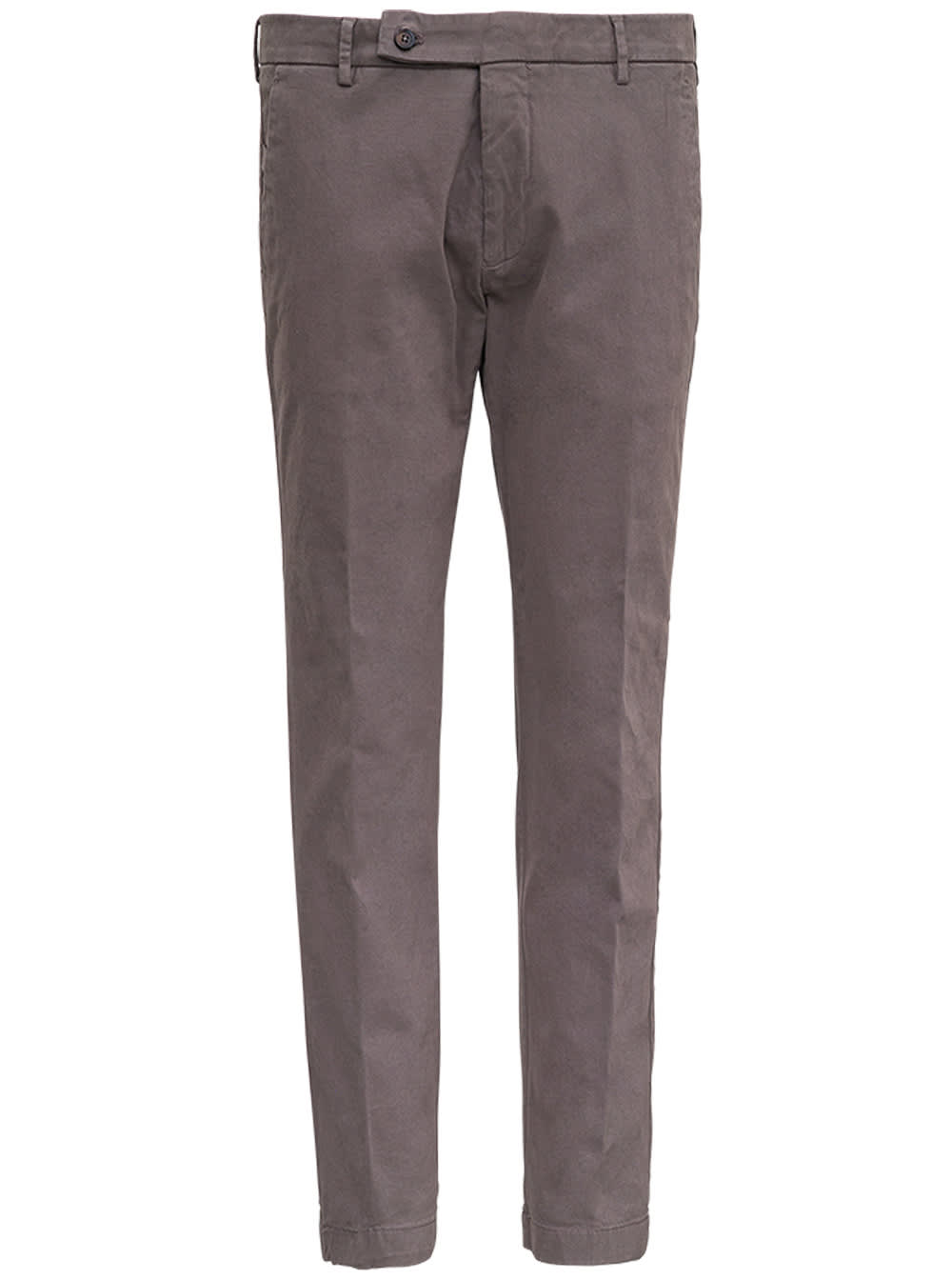Grey Cotton Tailored Pants