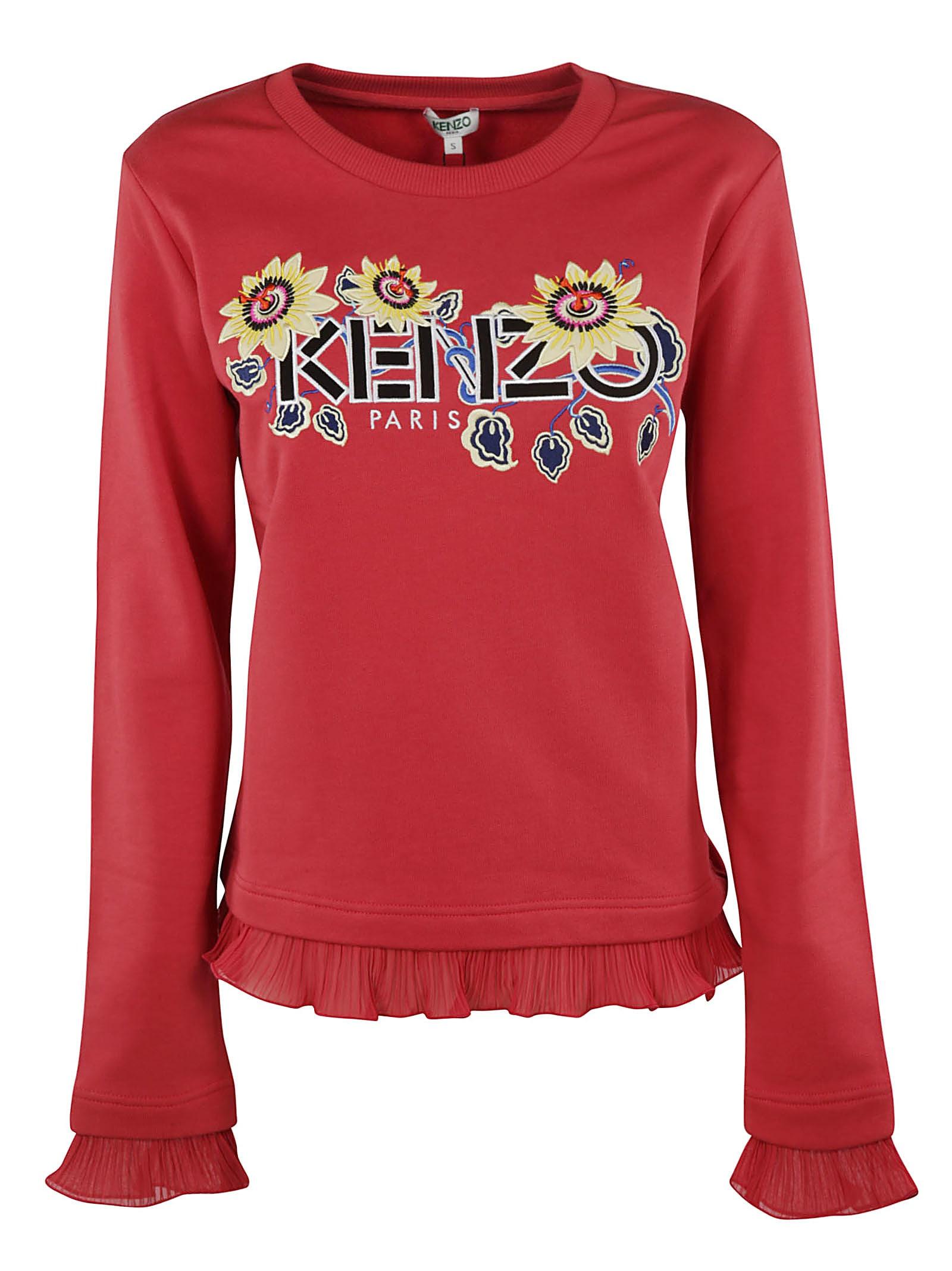 Kenzo Micro Ruffles Logo Sweatshirt
