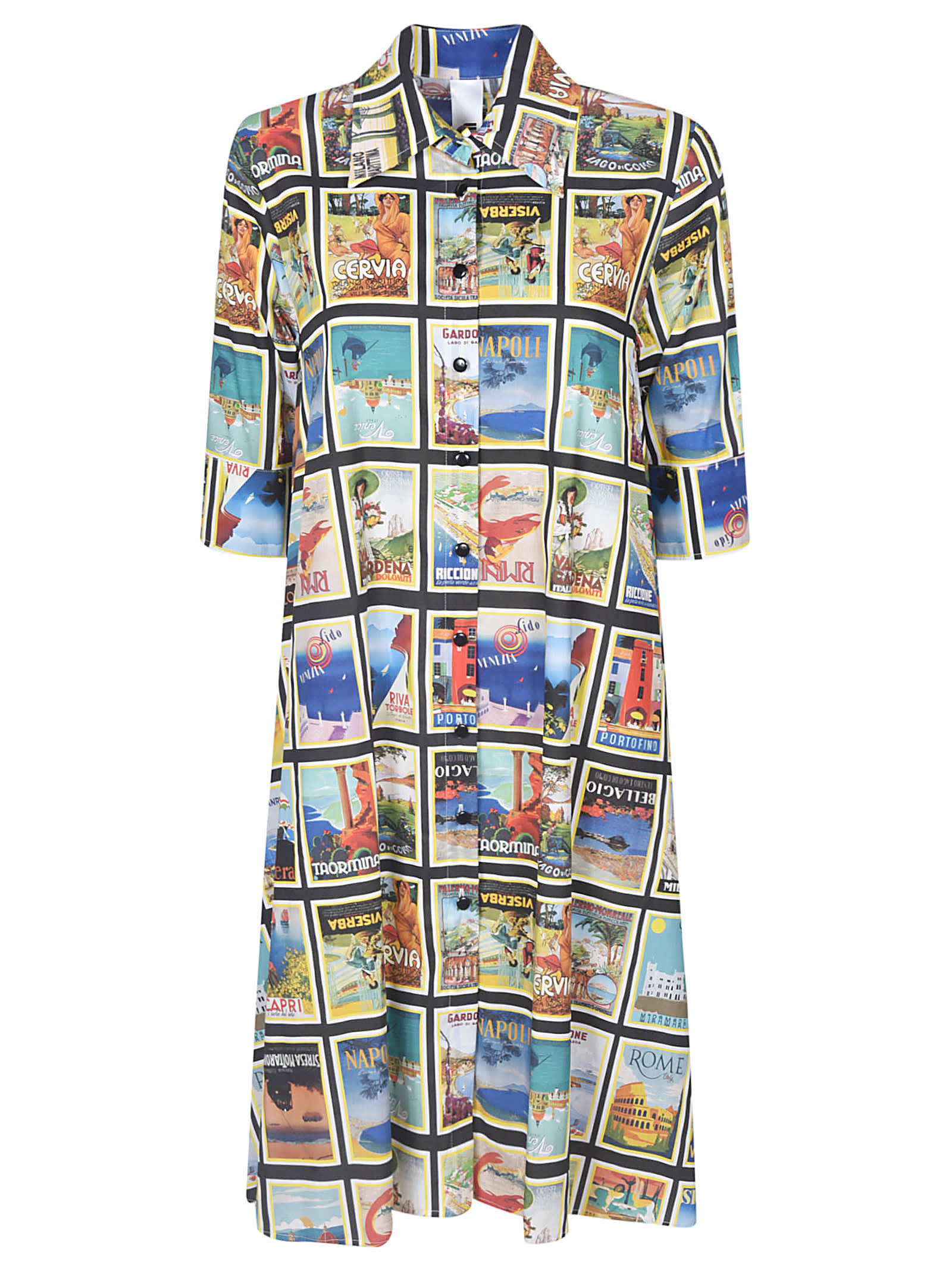 Buy Ultrachic Graphic Printed Shirt Dress online, shop Ultrachic with free shipping