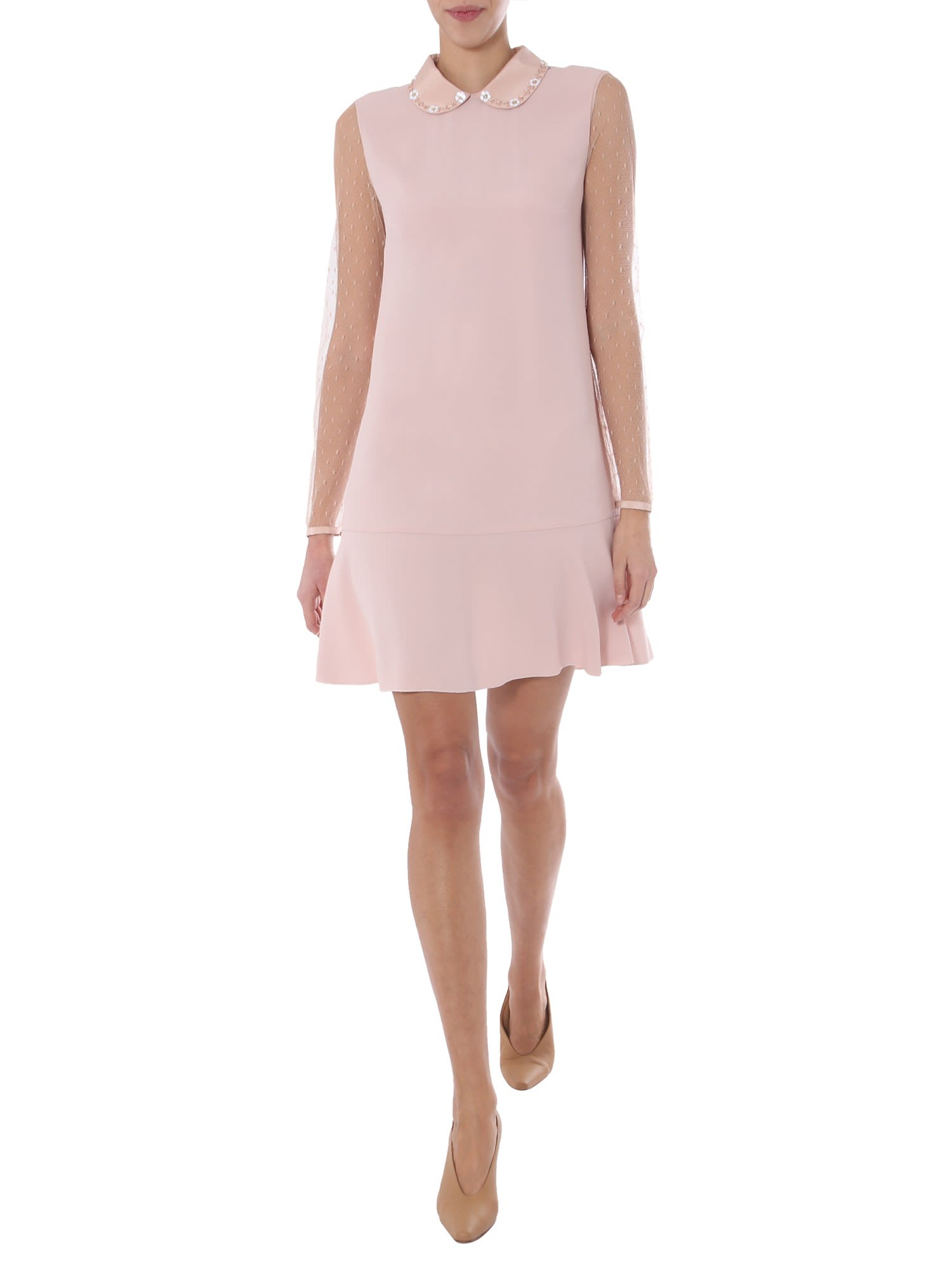 Buy RED Valentino Short Dress online, shop RED Valentino with free shipping
