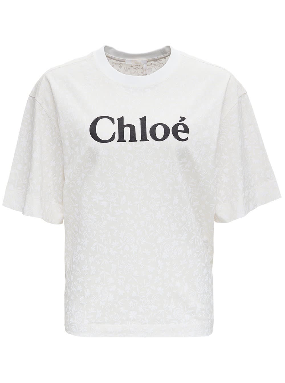 Chloé JERSEY T-SHIRT WITH LOGO PRINT
