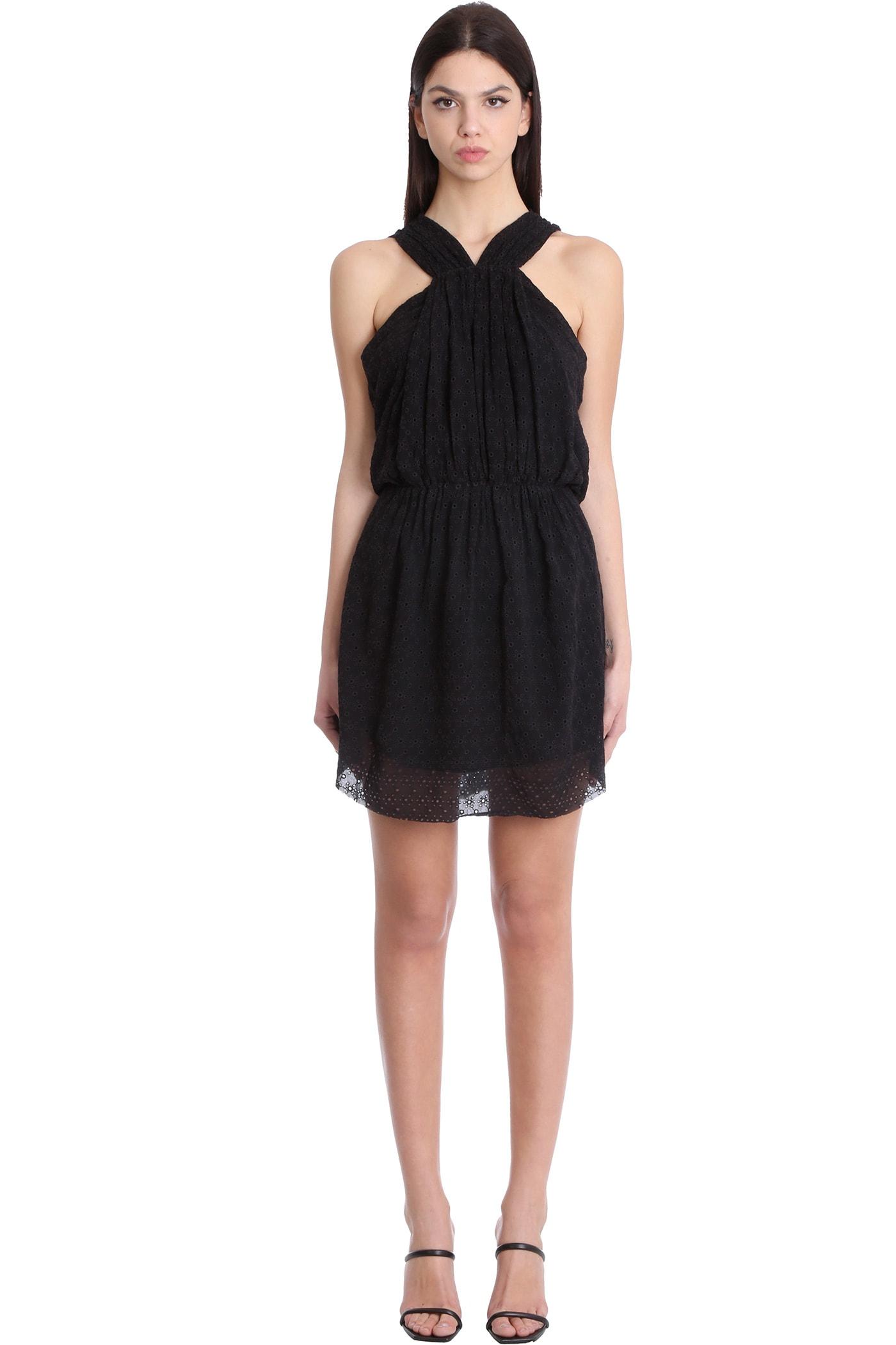 Buy IRO Ibiza Dress In Black Viscose online, shop IRO with free shipping