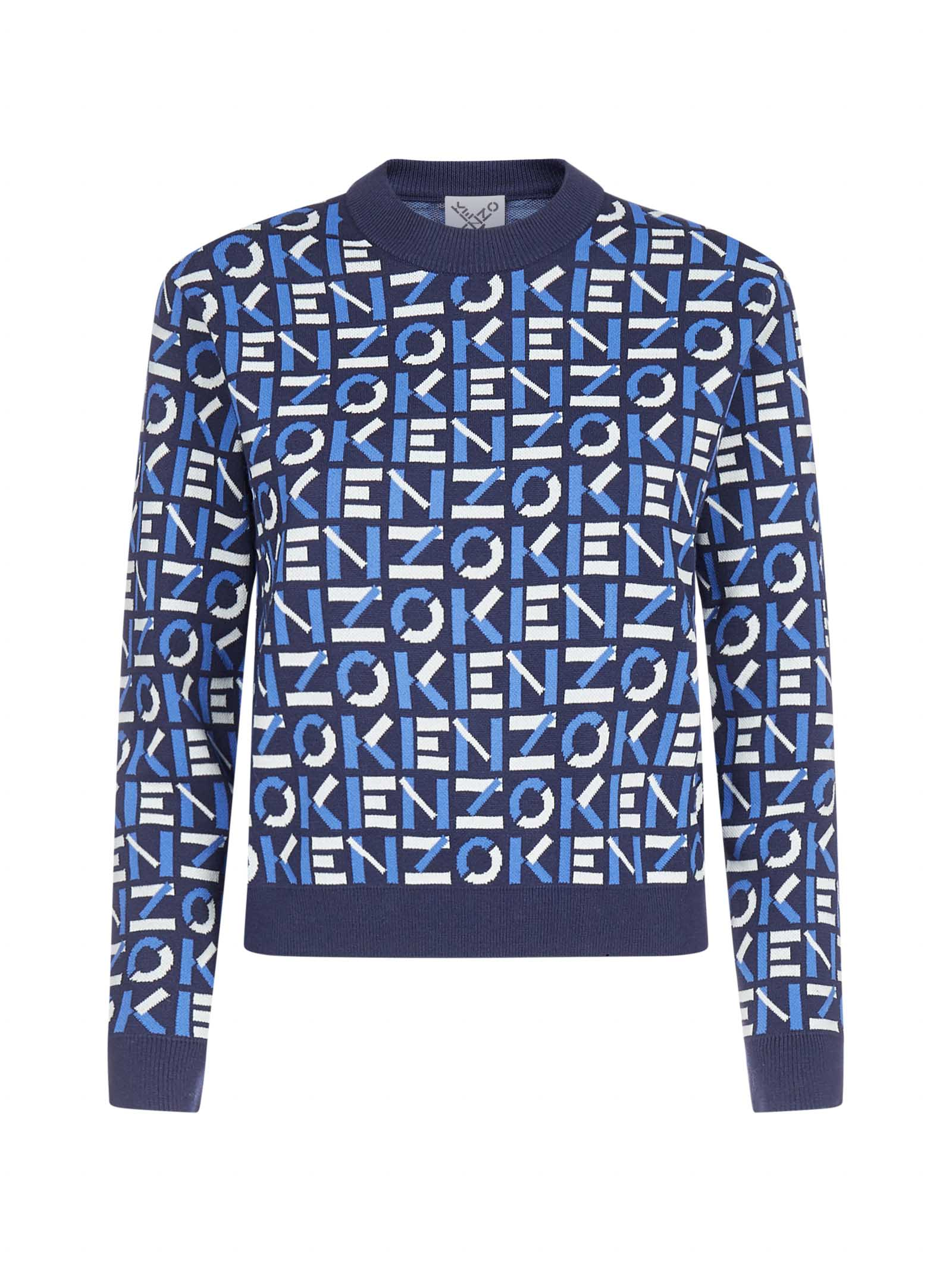 Kenzo All-over Logo Cotton-blend Sweater