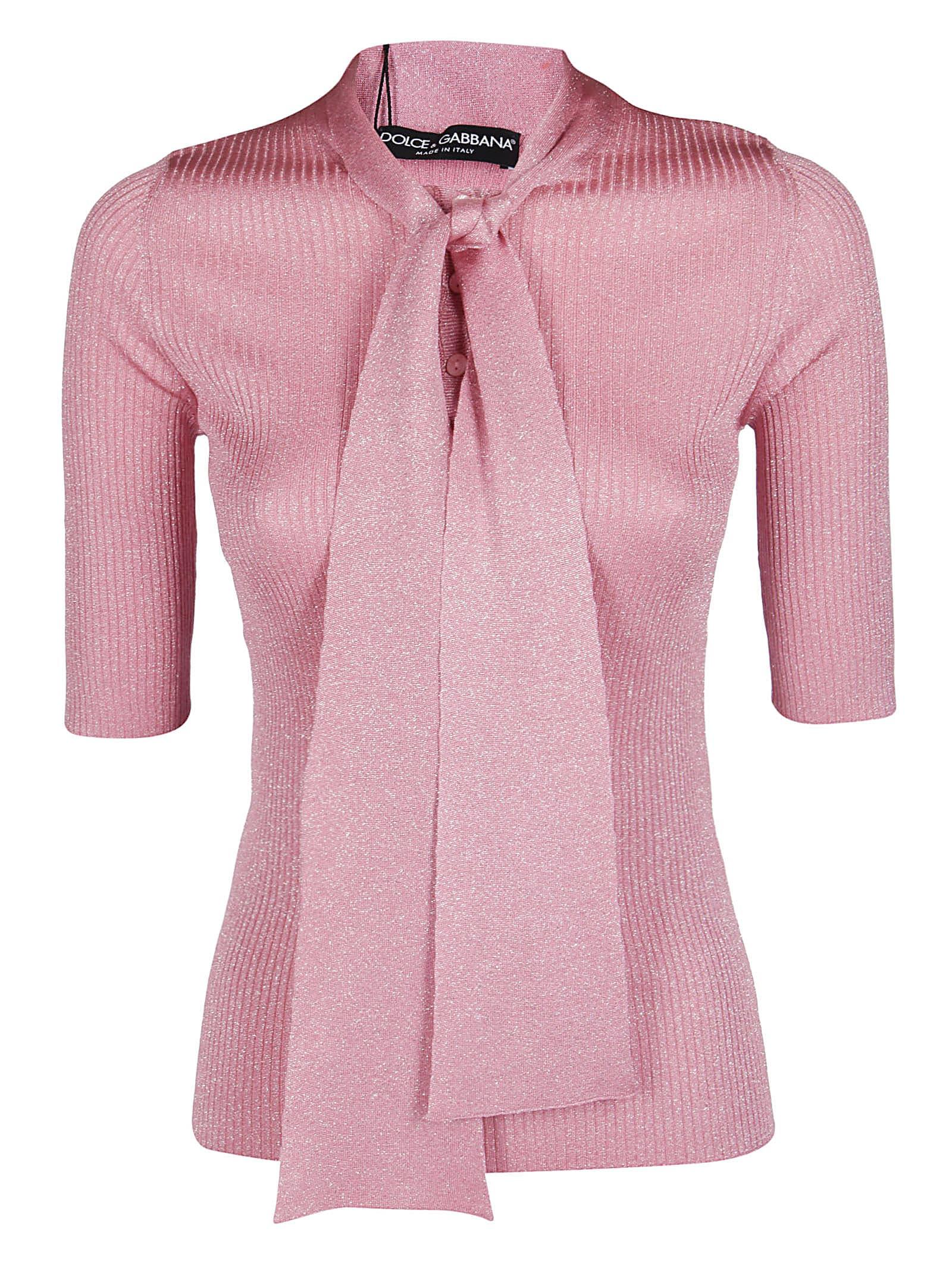 Dolce & Gabbana Pink Viscose Blend Blouse
