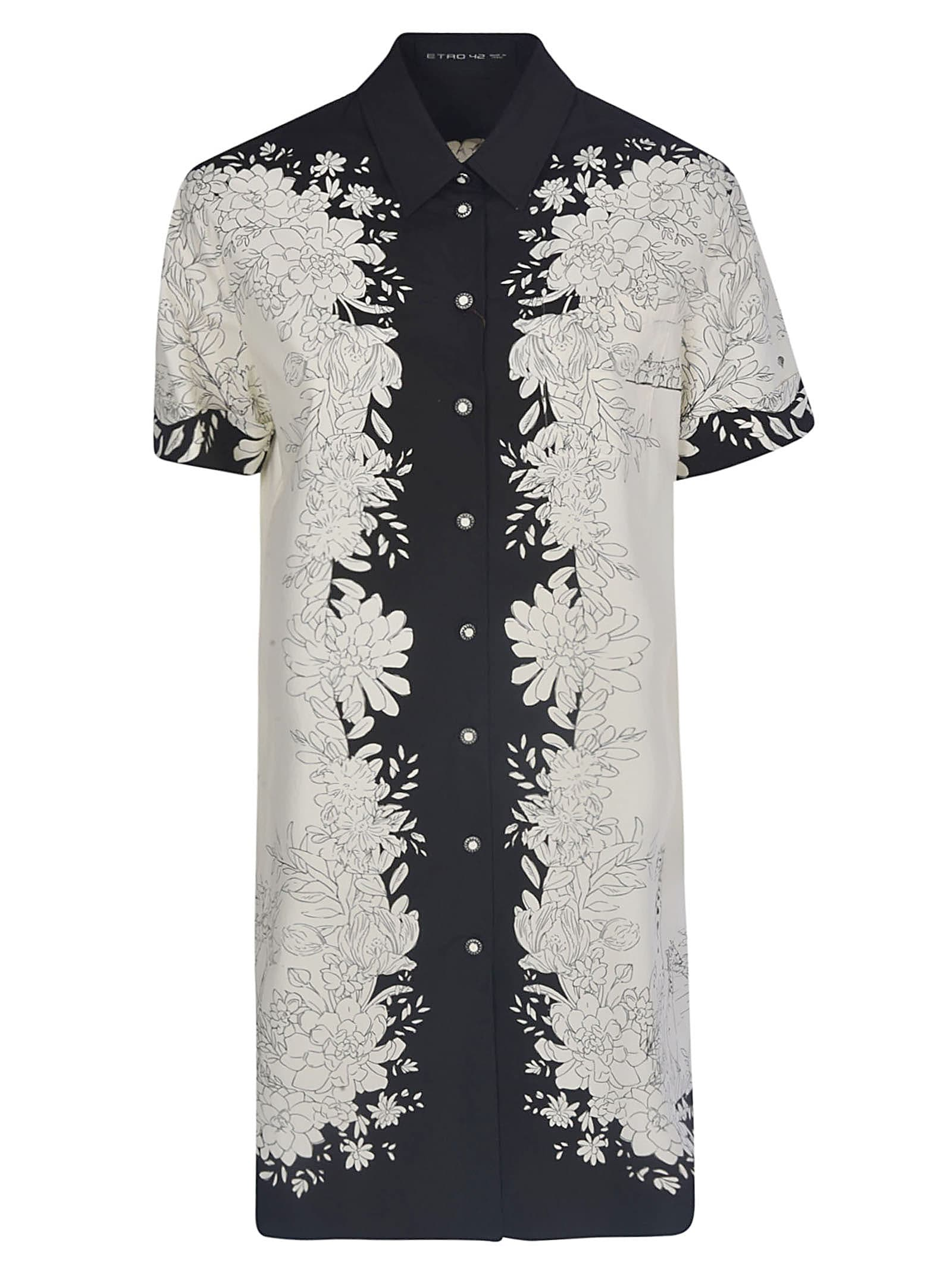 Buy Etro Floral Printed Shirt Dress online, shop Etro with free shipping