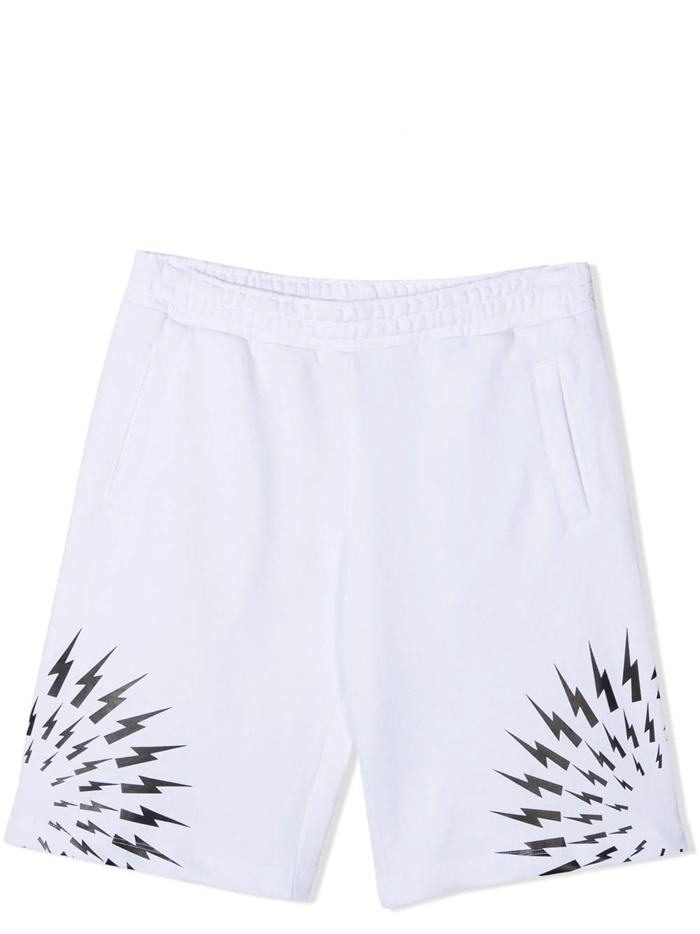 Neil Barrett Kids' Cotton Shorts In White