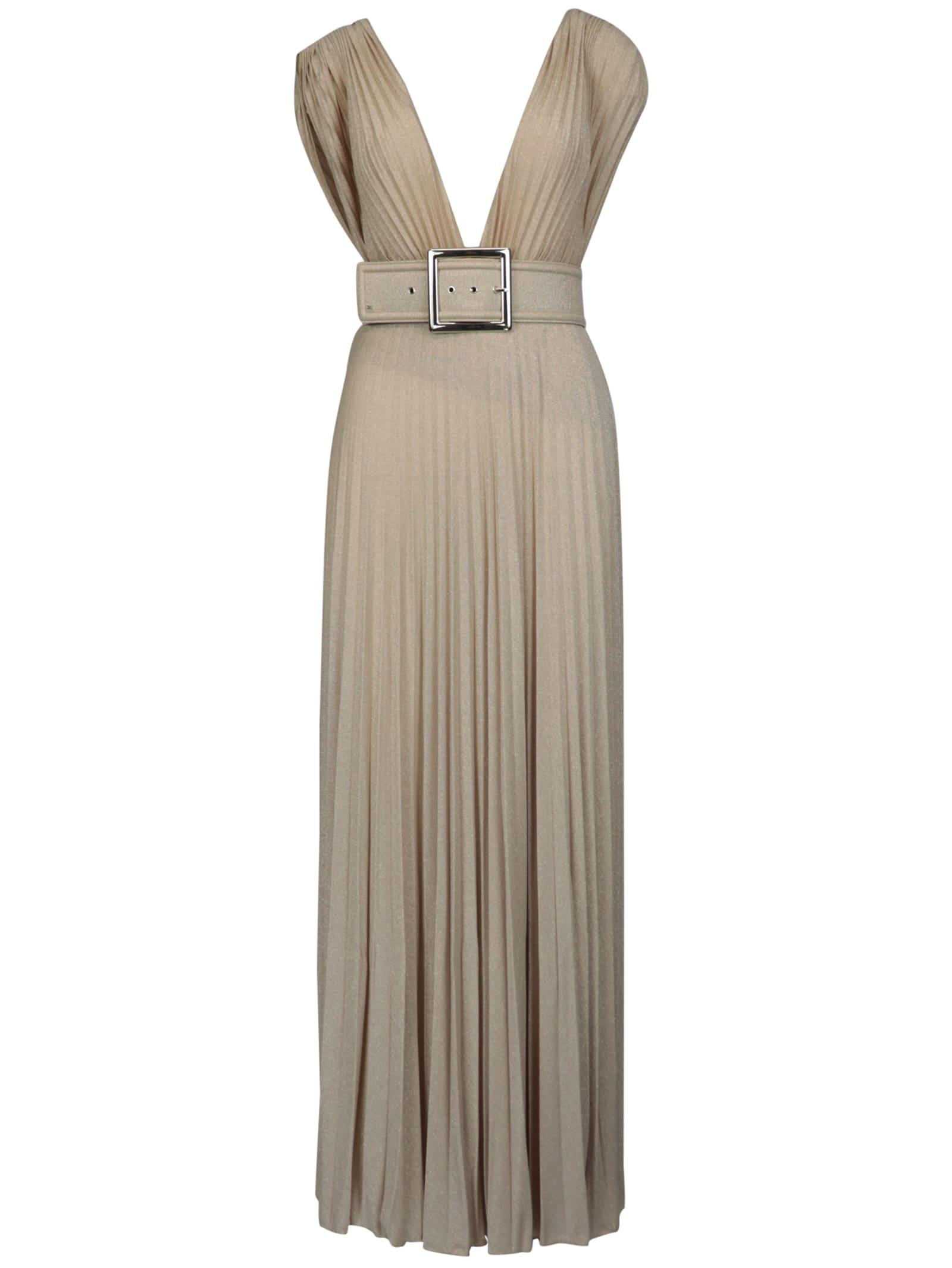 Buy Elisabetta Franchi Celyn B. Jersey Long With Belt Dress online, shop Elisabetta Franchi Celyn B. with free shipping