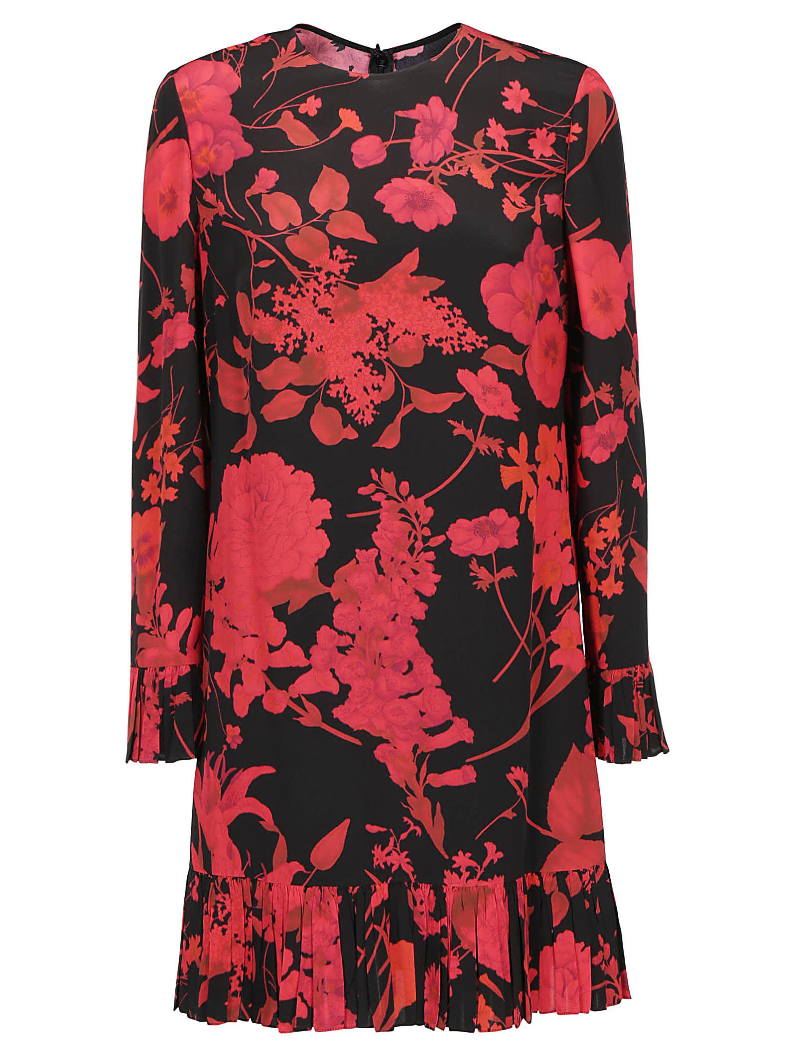 Valentino Crepe De Chine Dress