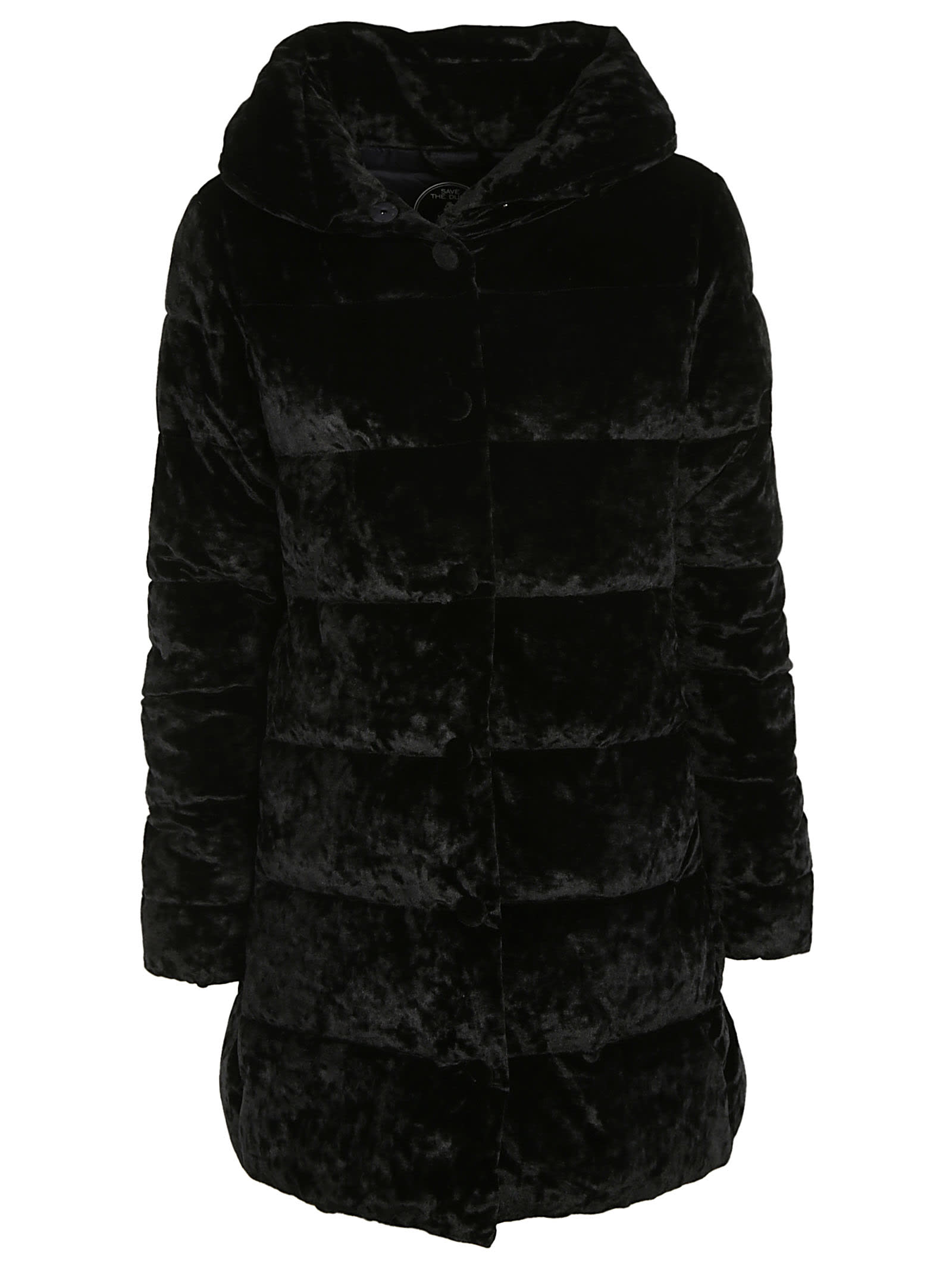 Photo of  Save the Duck Furry Hooded Padded Parka- shop Save the Duck jackets online sales
