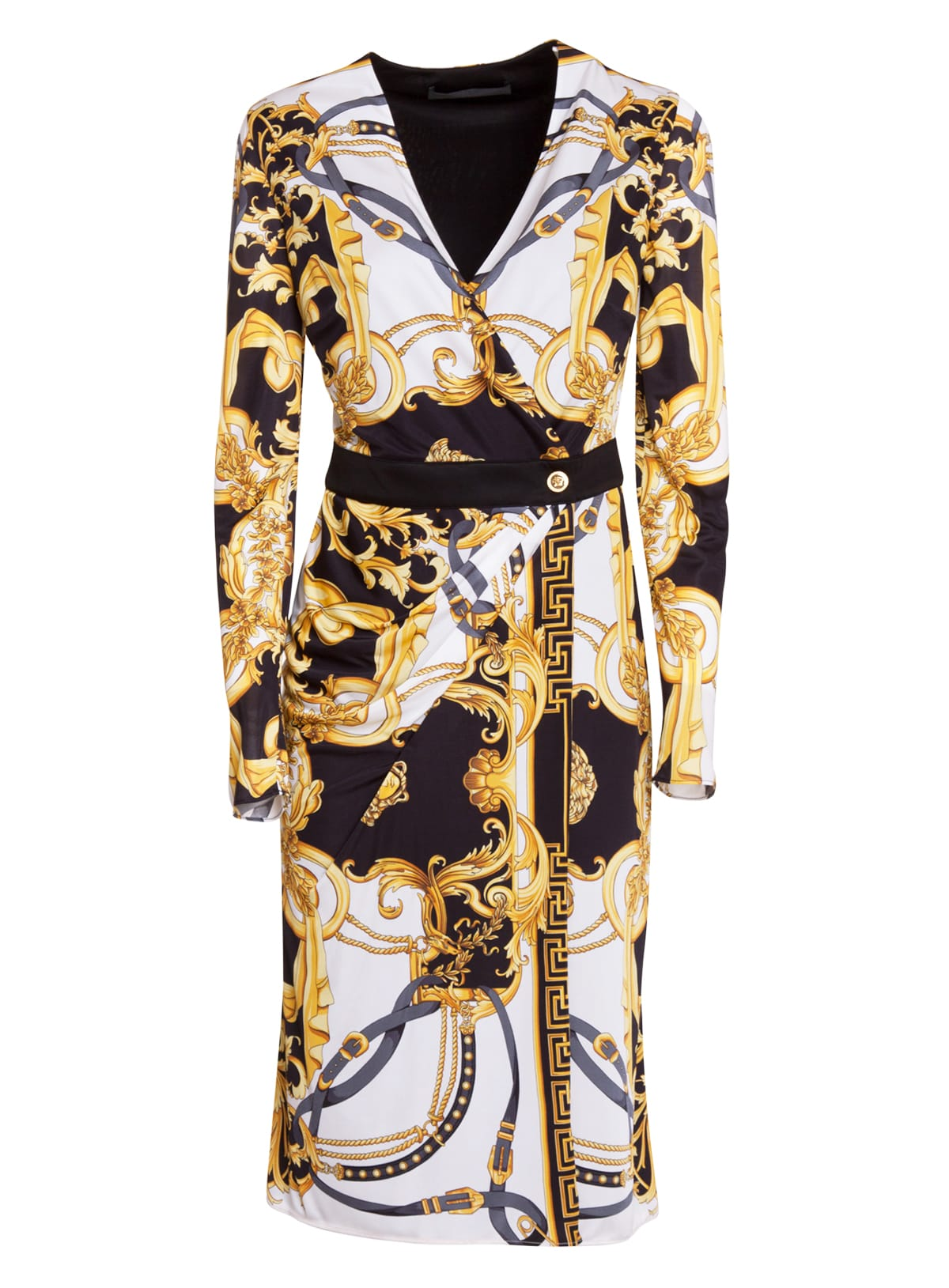 Buy Baroque Print Dress online, shop Versace with free shipping