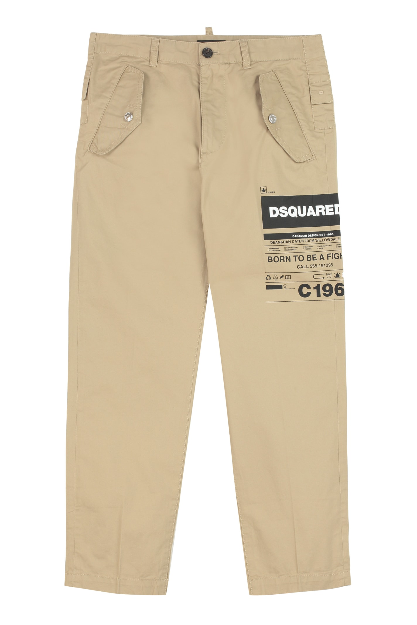 Dsquared2 Cottons STRETCH COTTON TROUSERS