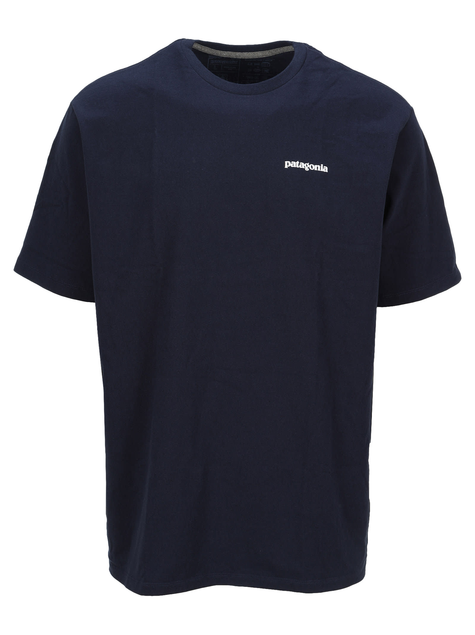 Cotton Blend P-6 Logo Responsibili-tee® T-shirt By Patagonia. Featuring: - Crew Neck; - Logo Printed To The Chest And Back; - Short Sleeves; - Straight Hem. Composition: 50% RECYCLED COTTON, 50% RECYCLED POLYESTER