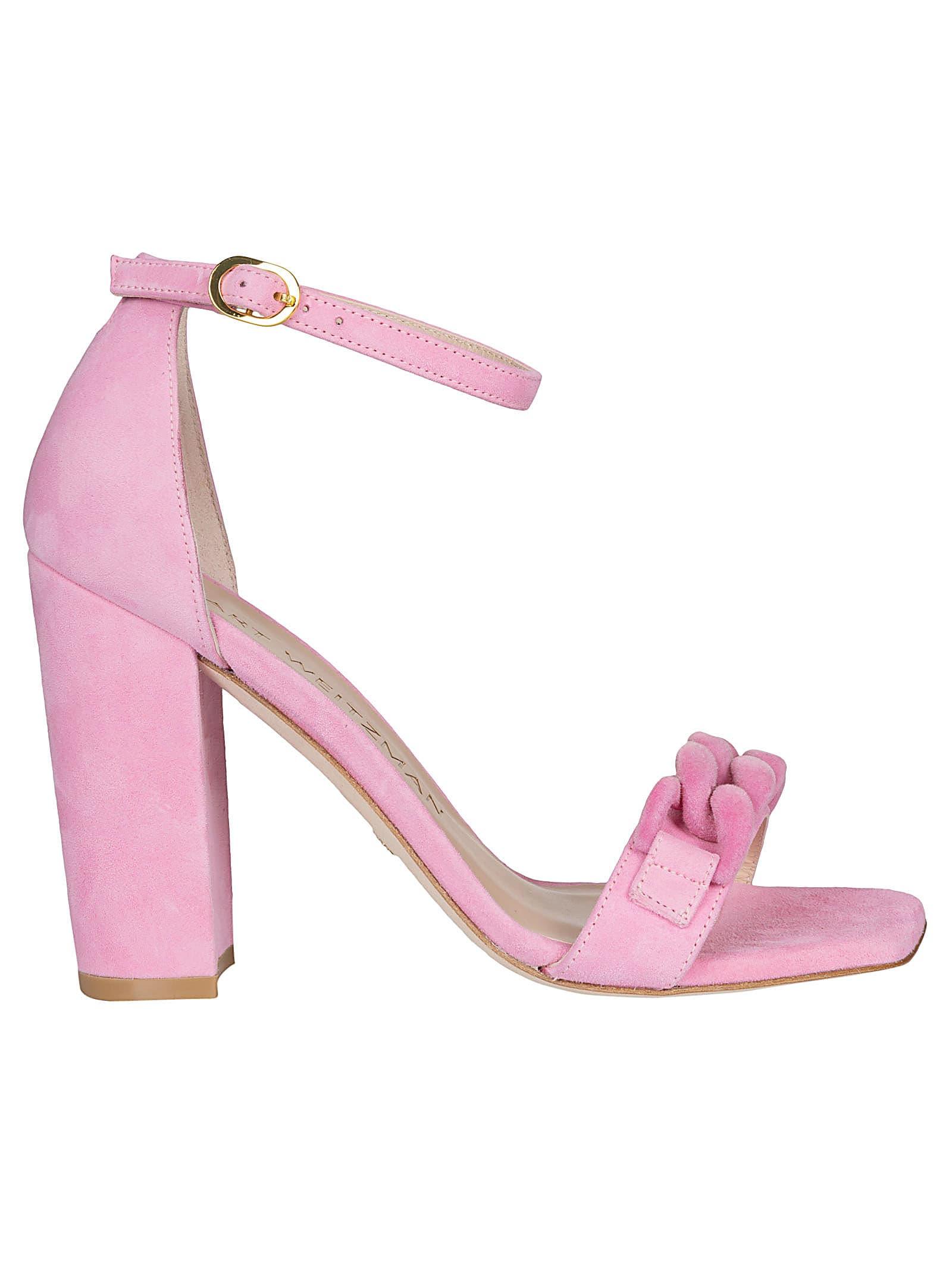 Buy Stuart Weitzman Amelina Block 100 Sandals online, shop Stuart Weitzman shoes with free shipping