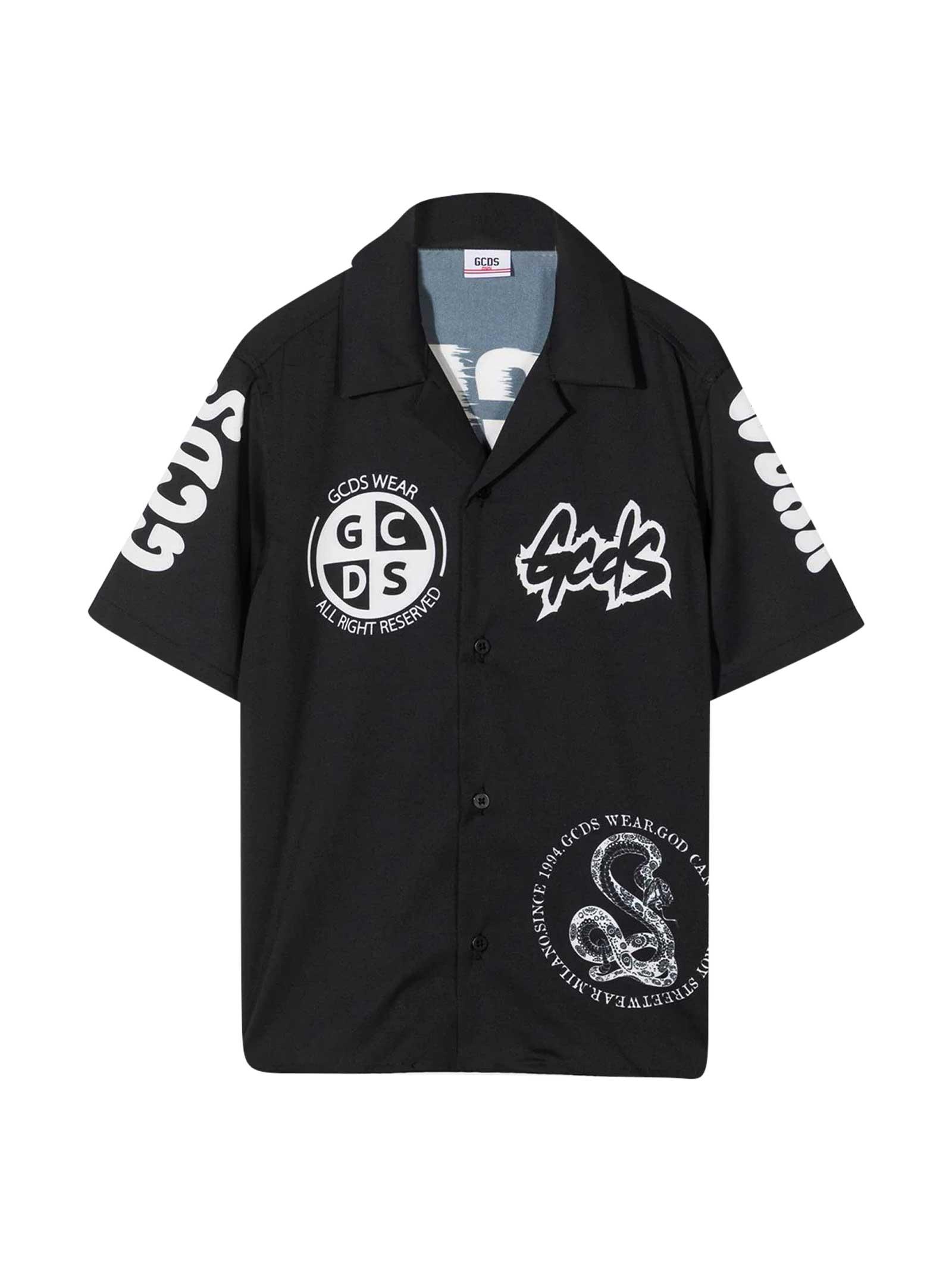 Gcds Mini Shirts BLACK SHIRT TEEN